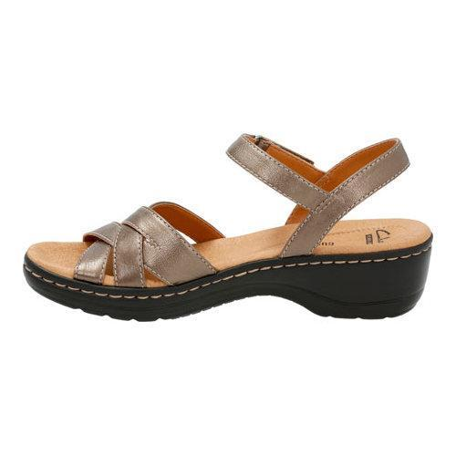 cf141ac2a8e ... Thumbnail Women  x27 s Clarks Hayla Pier Quarter Strap Sandal Pewter  Leather