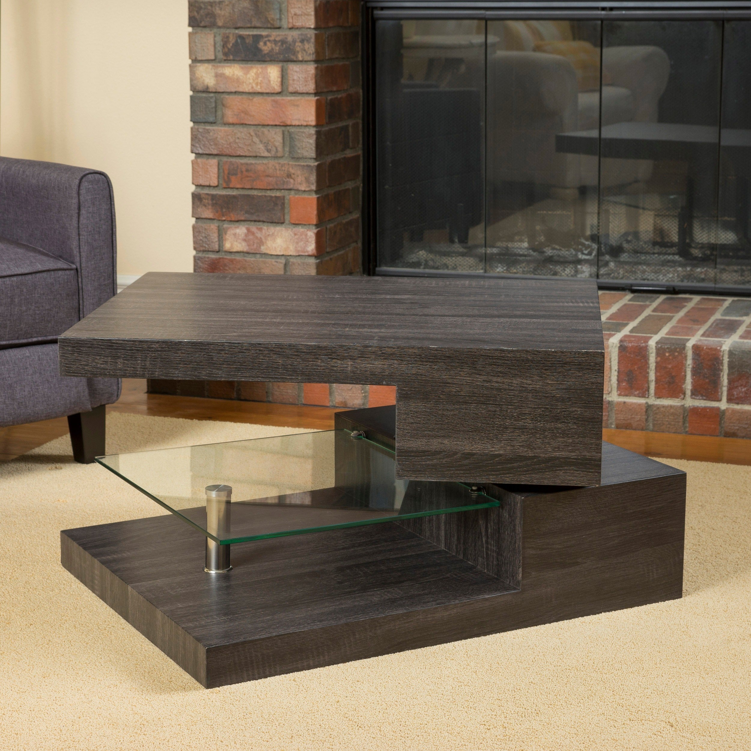 Michael Rectangular Rotating Wood Coffee Table By Christopher Knight Home On Free Shipping Today 10600415