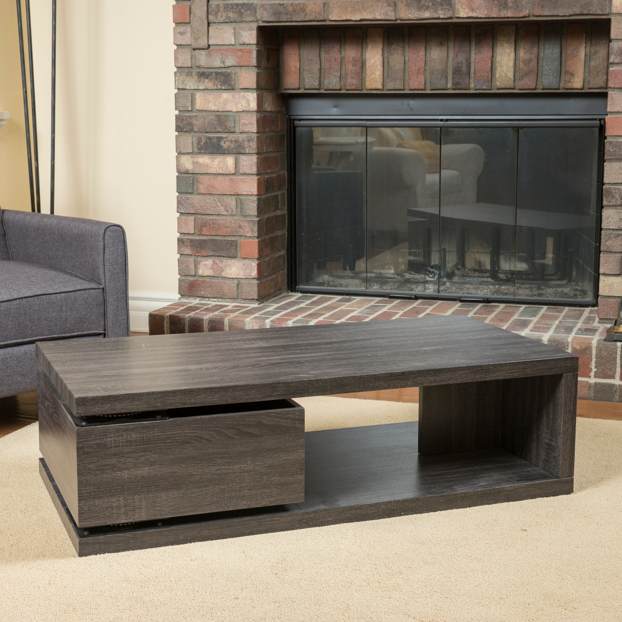 Shop Jack Rectangular Rotating Wood Coffee Table By Christopher Knight Home    Free Shipping Today   Overstock.com   10600416