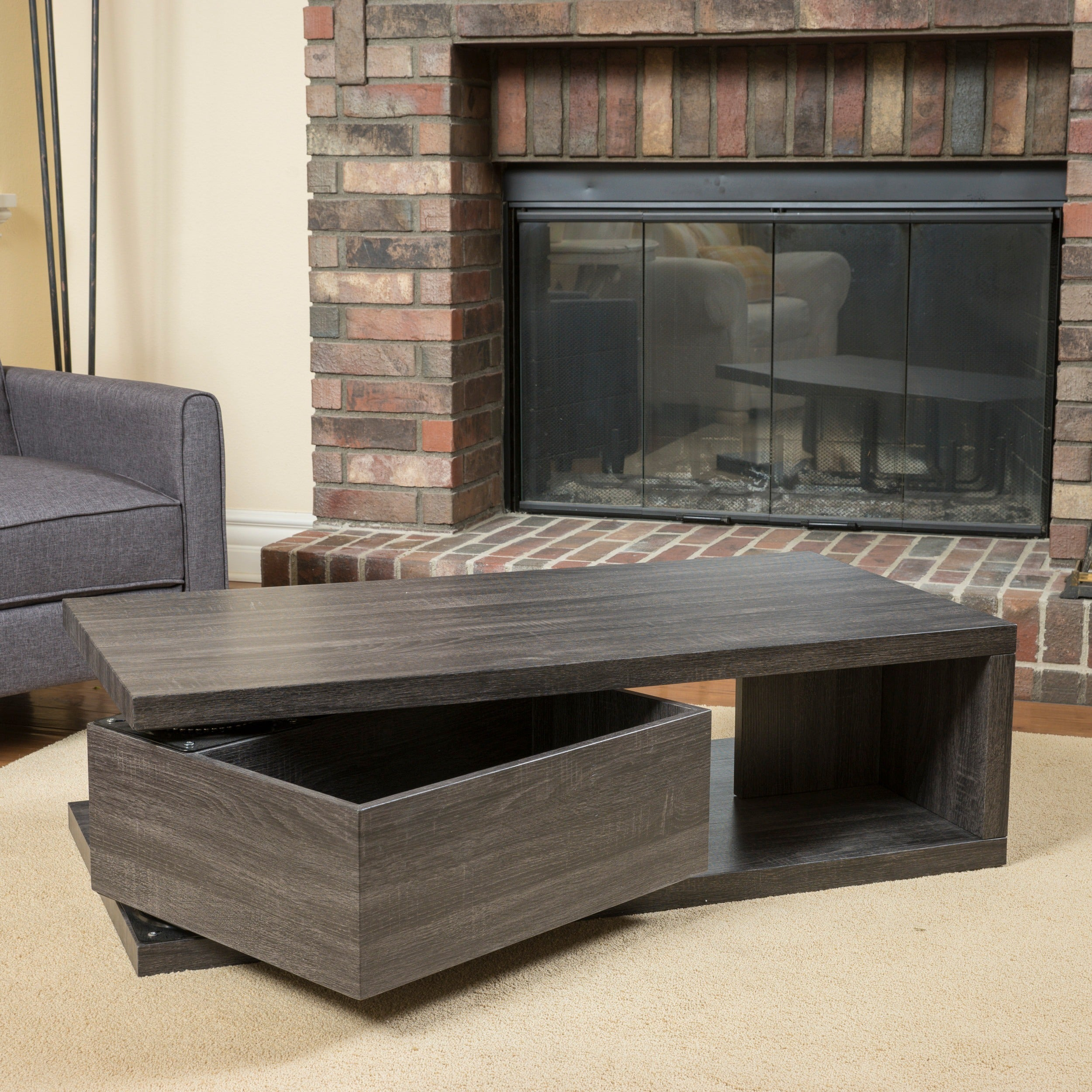 Jack Rectangular Rotating Wood Coffee Table By Christopher Knight Home On Free Shipping Today 10600416