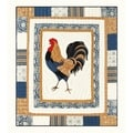 Blue Provincial Rooster Throw
