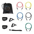Bespolitan 12-piece Fitness Exercise Resistance Bands Workout Set