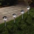 Pure Garden LED Solar Classic Glass Pathway Lights - Set of 6