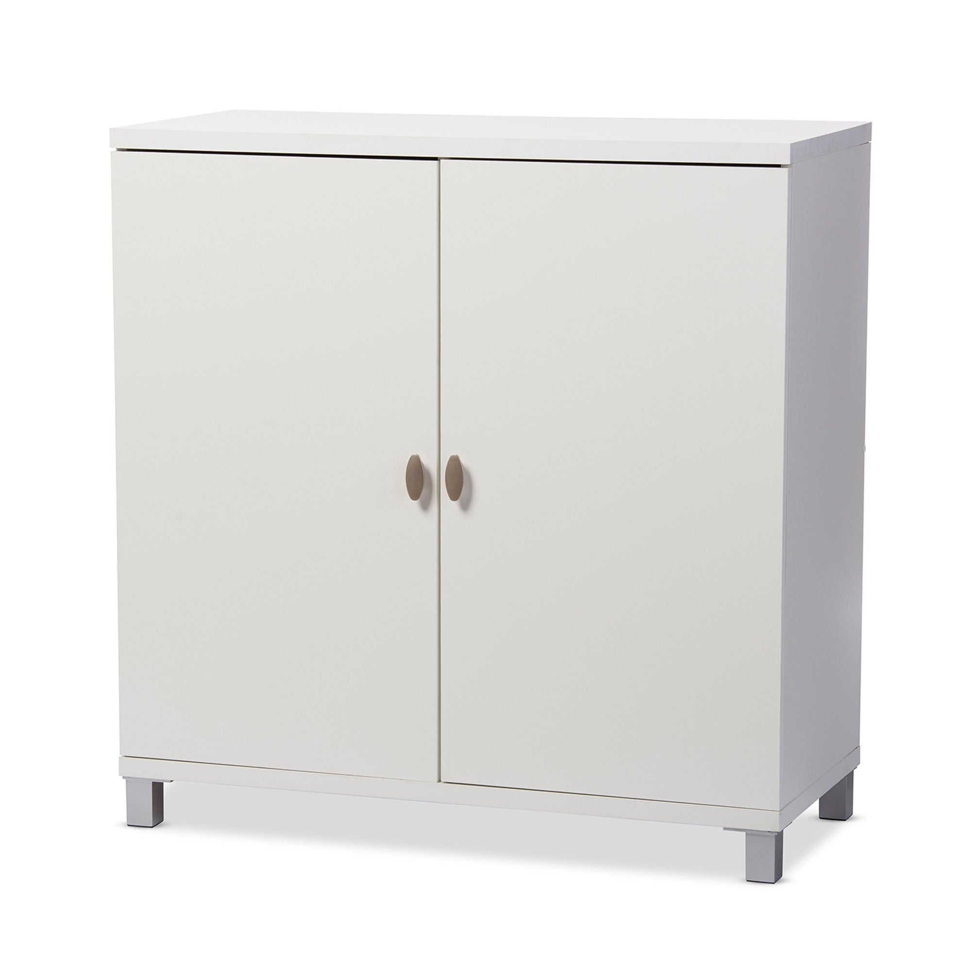 Baxton Studio Marcy Contemporary White Wood Storage Sideboard Cabinet On Free Shipping Today 10603530