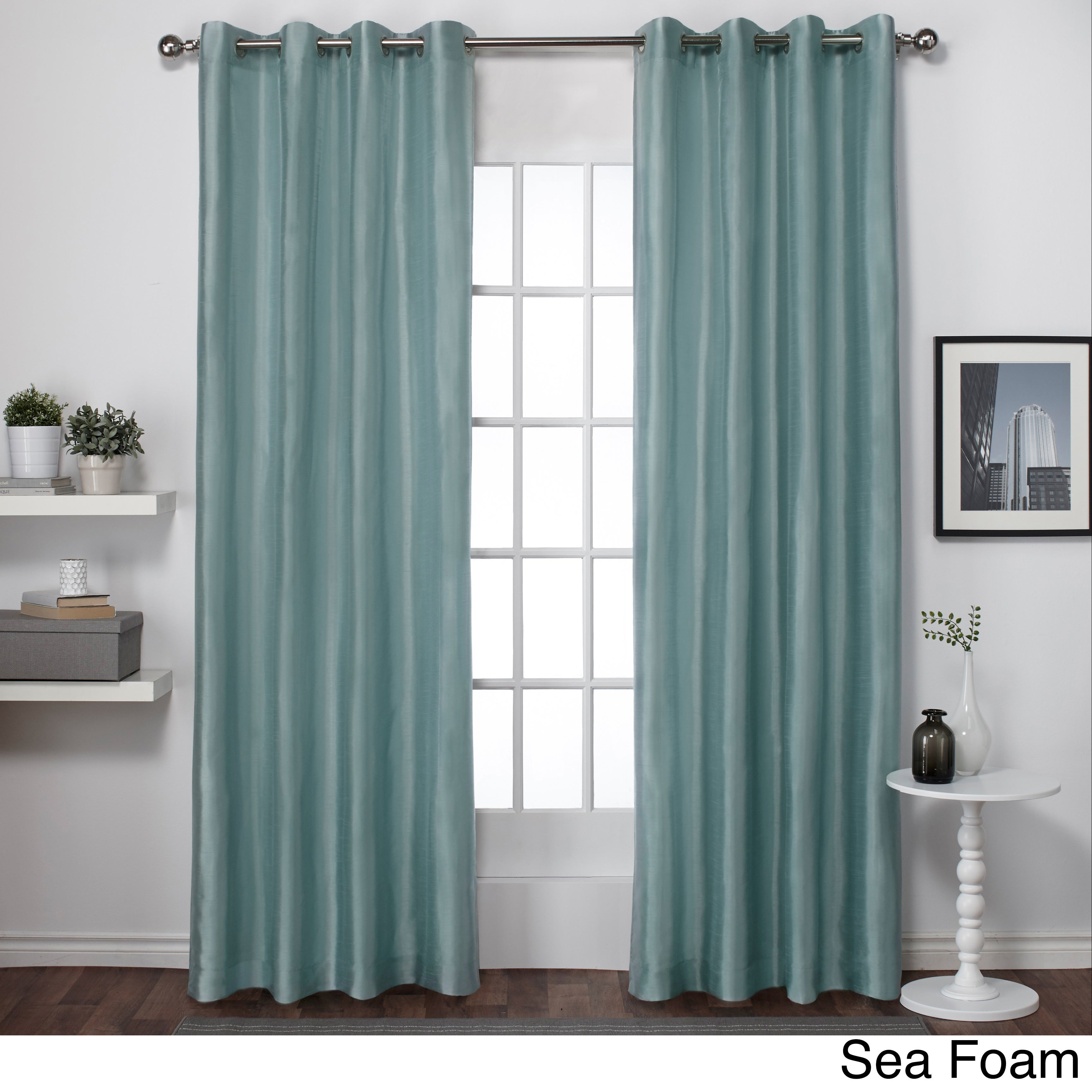 ATI Home Chatra Faux Silk Grommet Top Panel Curtains - Free Shipping On  Orders Over $45 - Overstock.com - 17676286