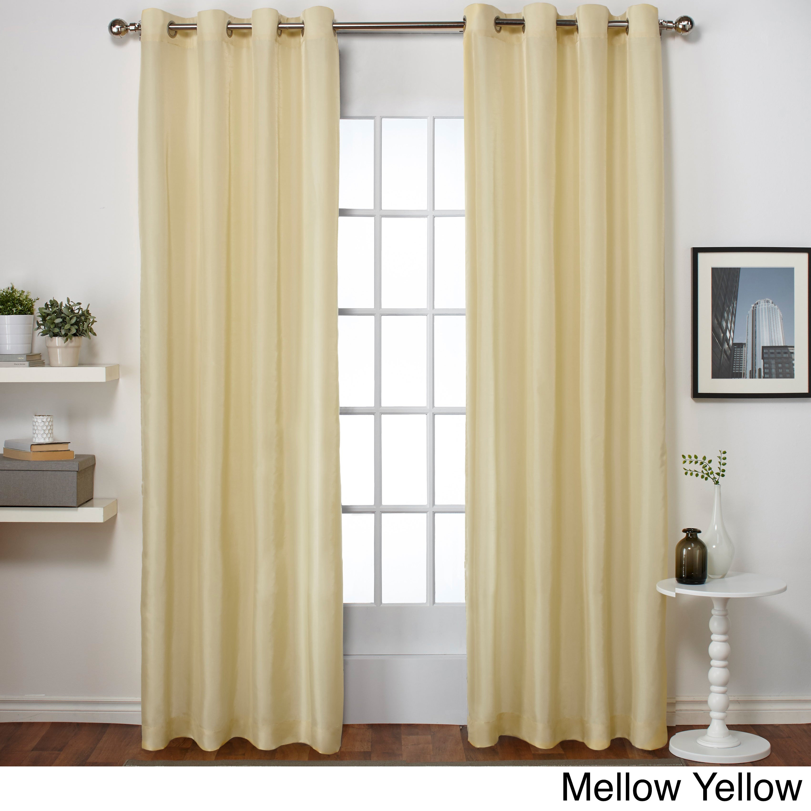 drapes faux door panel blackout decor eyelet curtain silk window drape home itm bedroom