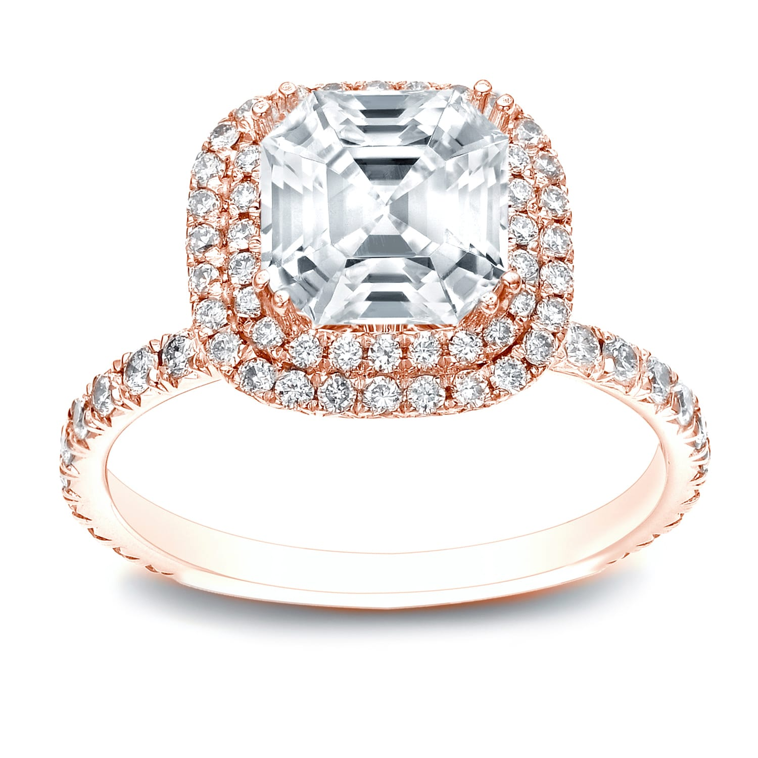 engagement products diamond ring princess moissanite nicole asscher cut