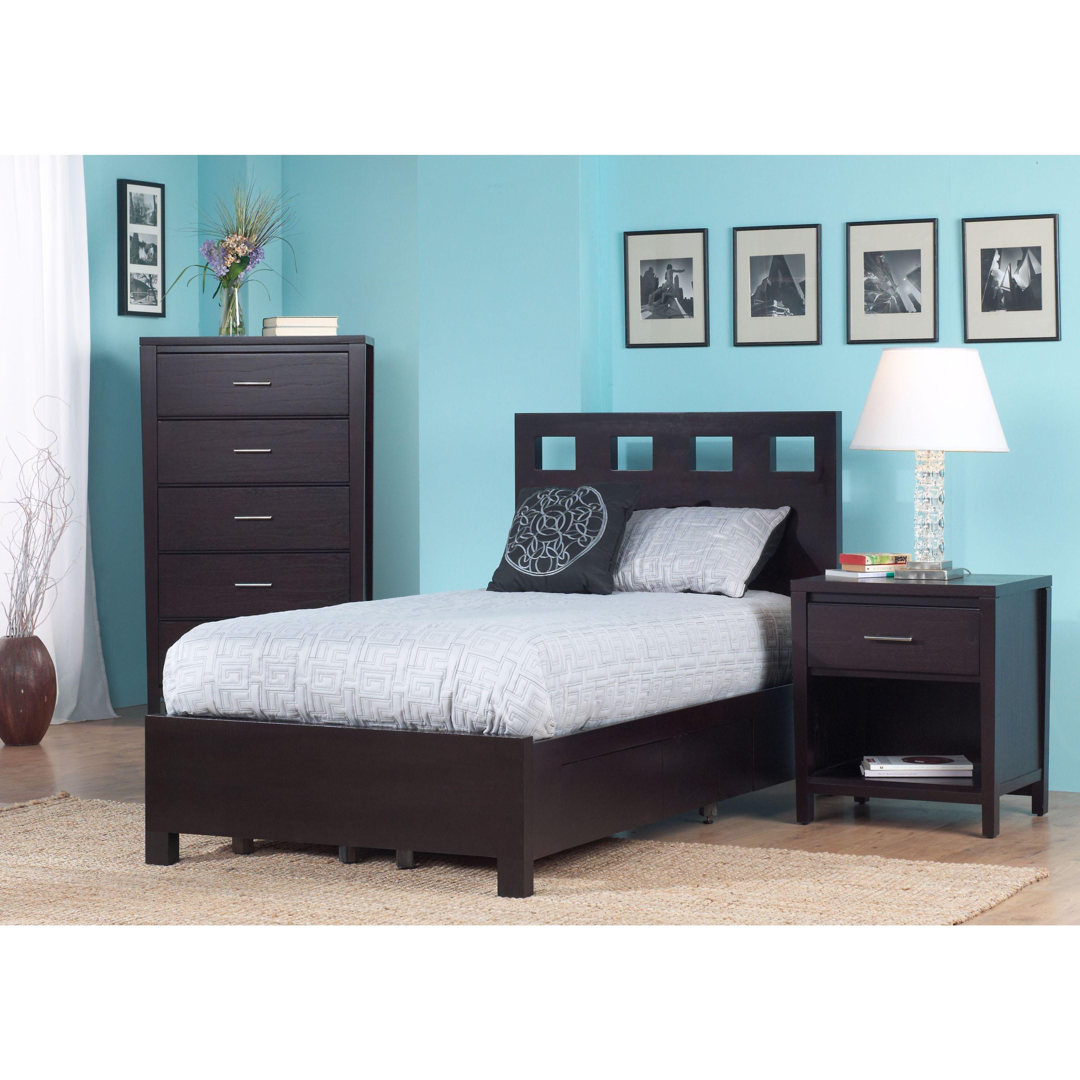 Shop Rectangular Cutout Platform Storage Bed in Espresso - Free ...