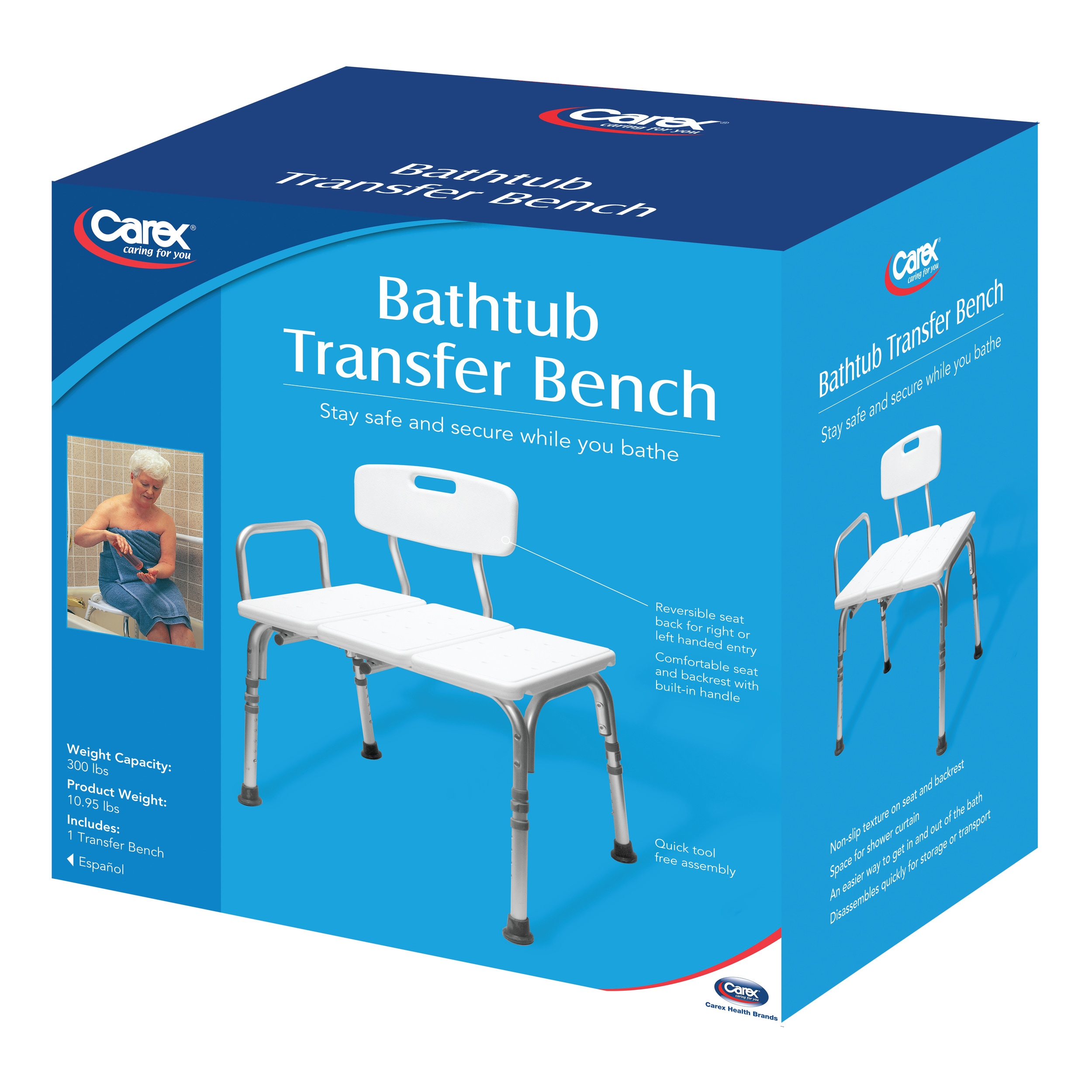 Shop Carex Bathtub Transfer Bench - Free Shipping Today - Overstock ...