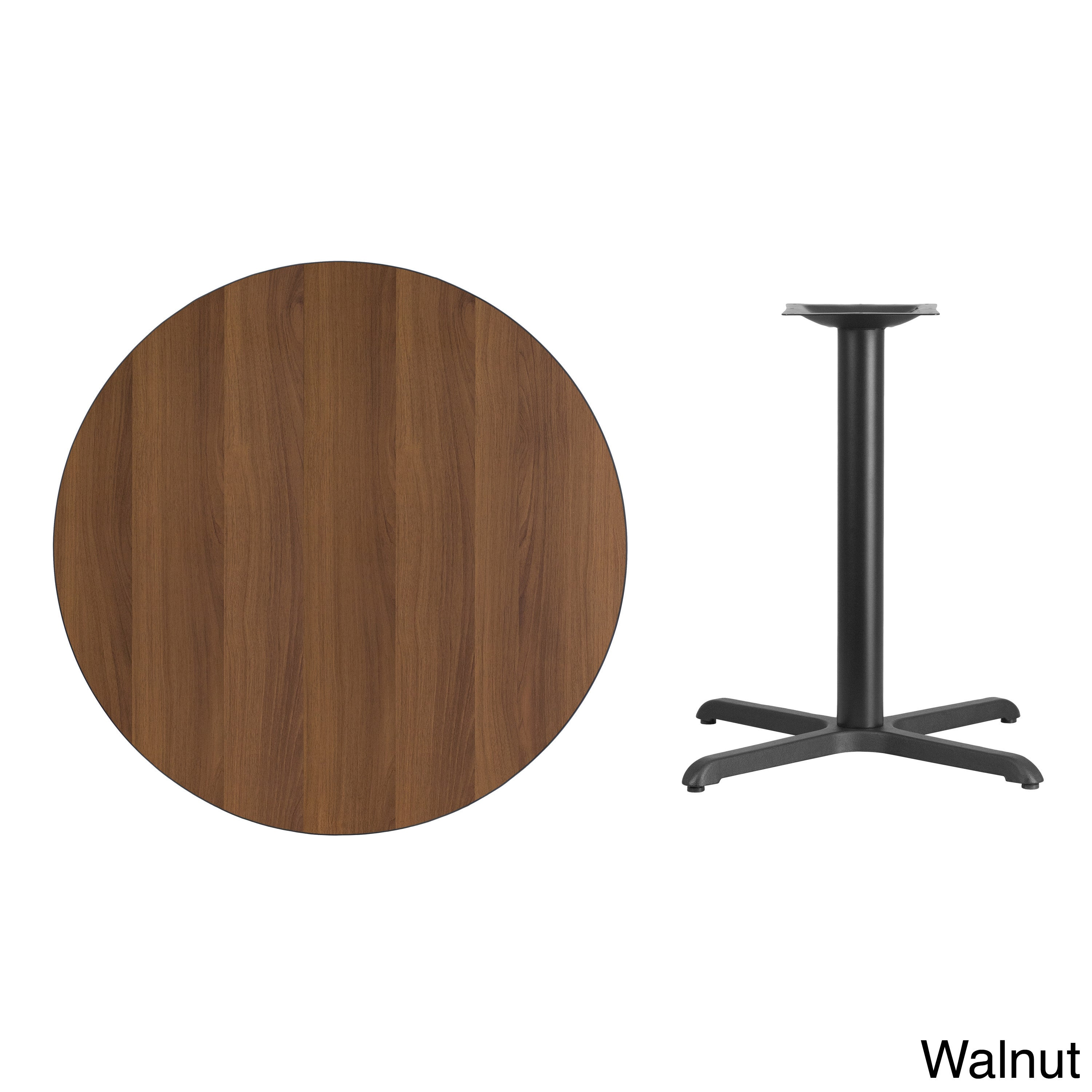 Shop 36 Inch Round Laminate Table Top With Table Base Black Free