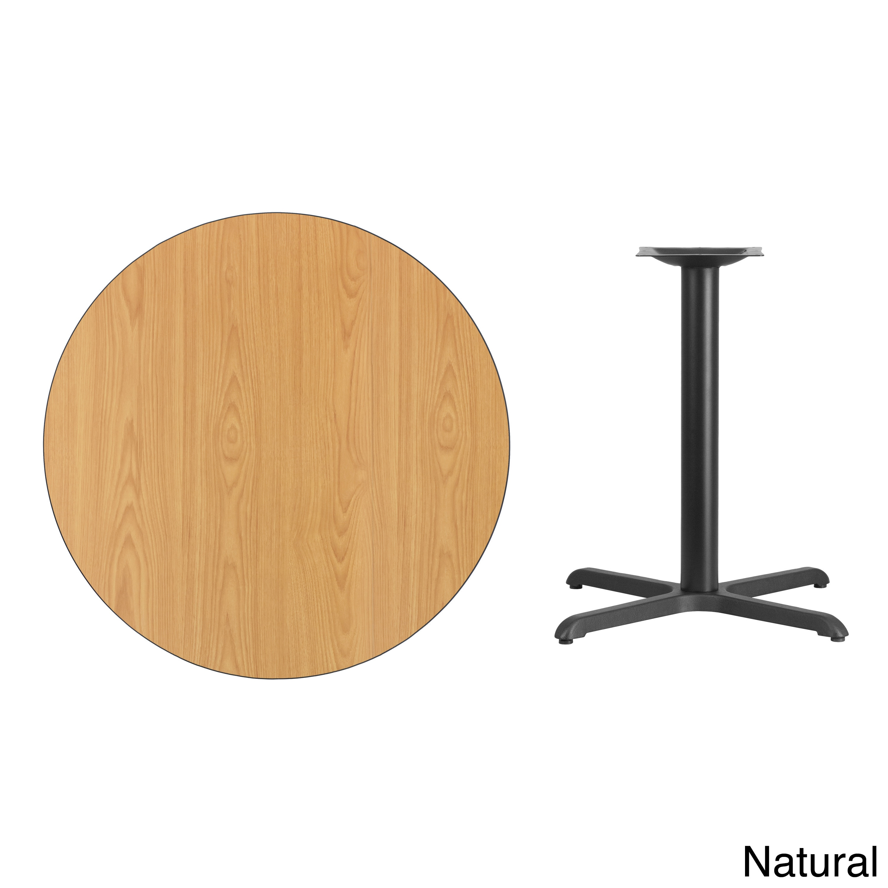 Delicieux Shop 36 Inch Round Laminate Table Top With Table Base   Black   Free  Shipping Today   Overstock.com   10605531