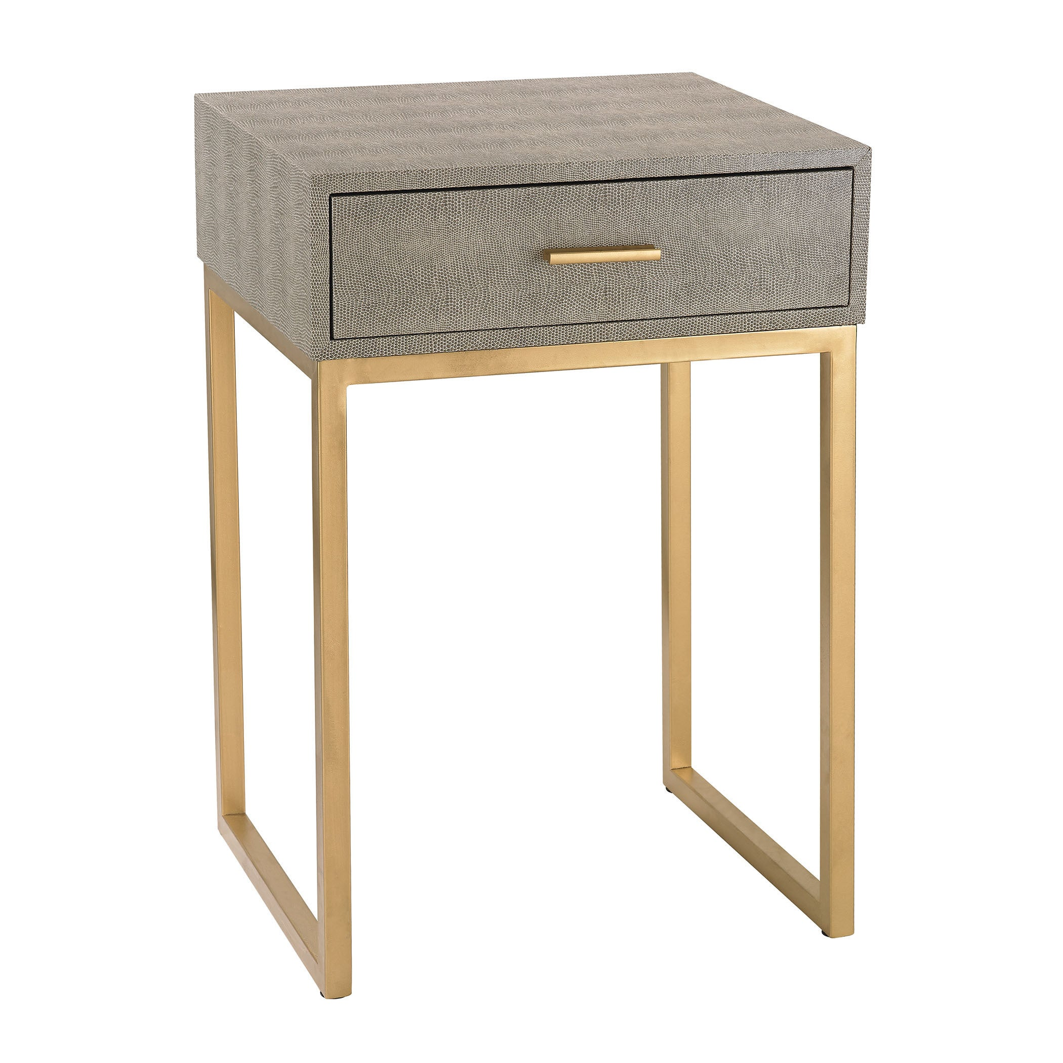 Sterling Shagreen Grey Side Table Free Shipping Today