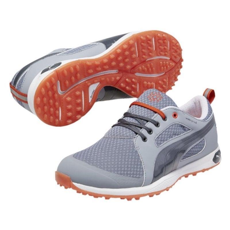 3ba8ee3f0fa185 Shop Puma Men s Biofly Mesh Tradewinds  Turbulence  Puma Red Golf Shoes -  Free Shipping Today - Overstock - 10606286