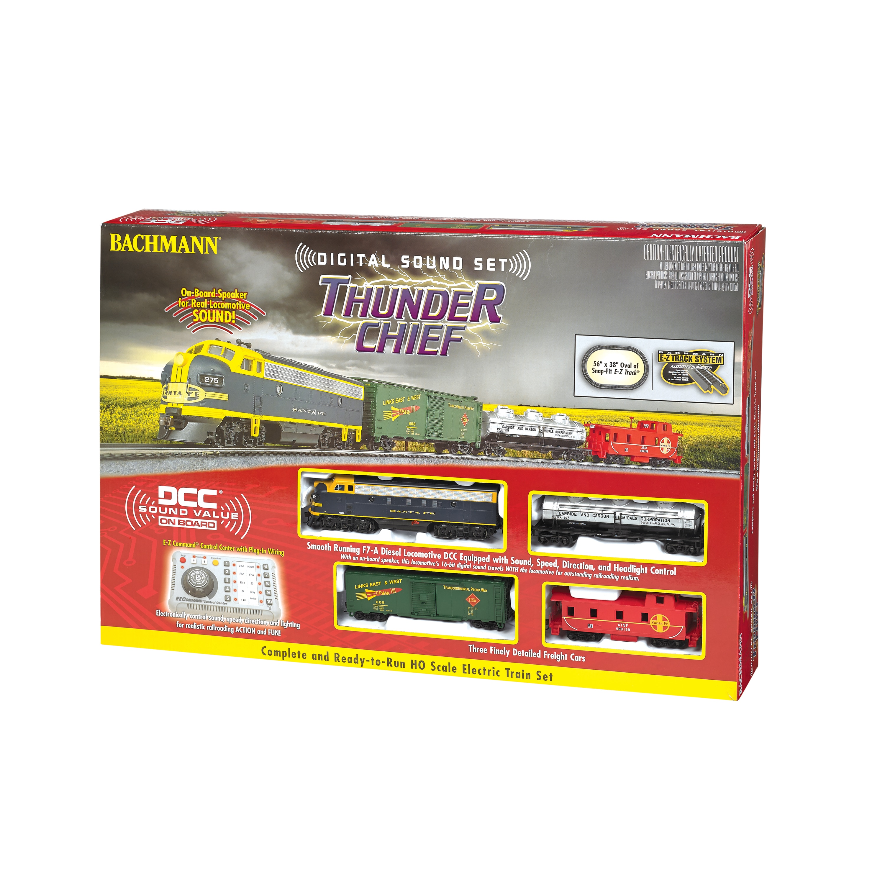 Shop Bachmann Trains Thunder Chief Ho Scale Ready To Run Electric Track Switch Wiring Schematic Train Set With Sound Value Equipped Locomotive Free Shipping Today