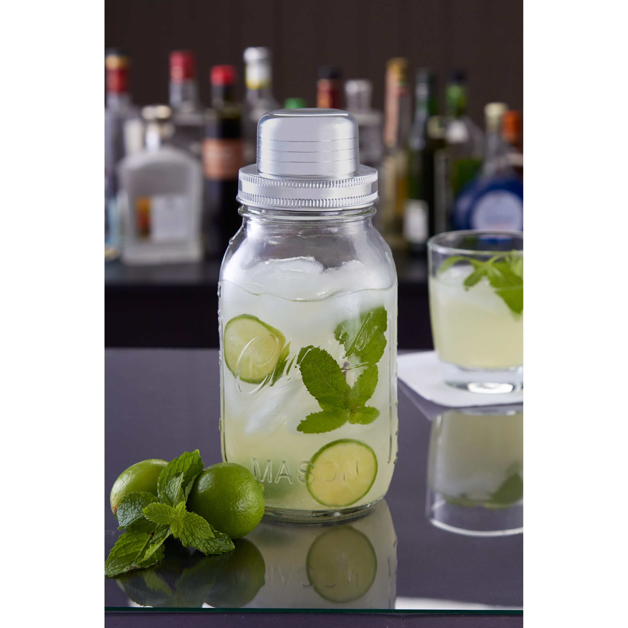 Shop Sharper Image 4 Piece Cocktail Mason Jar Shaker Free Shipping