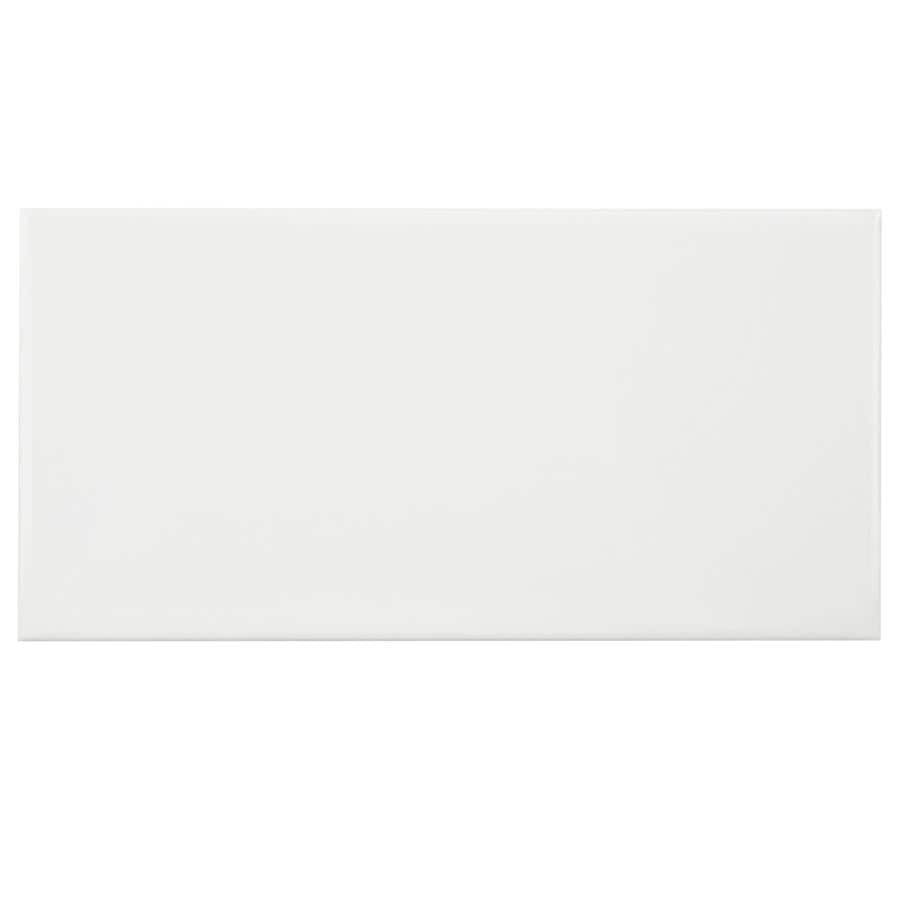 Somertile 3x6 Inch Malda Subway Glossy White Ceramic Wall Tile 136 Tiles 17 Sqft Free Shipping Today 17678679