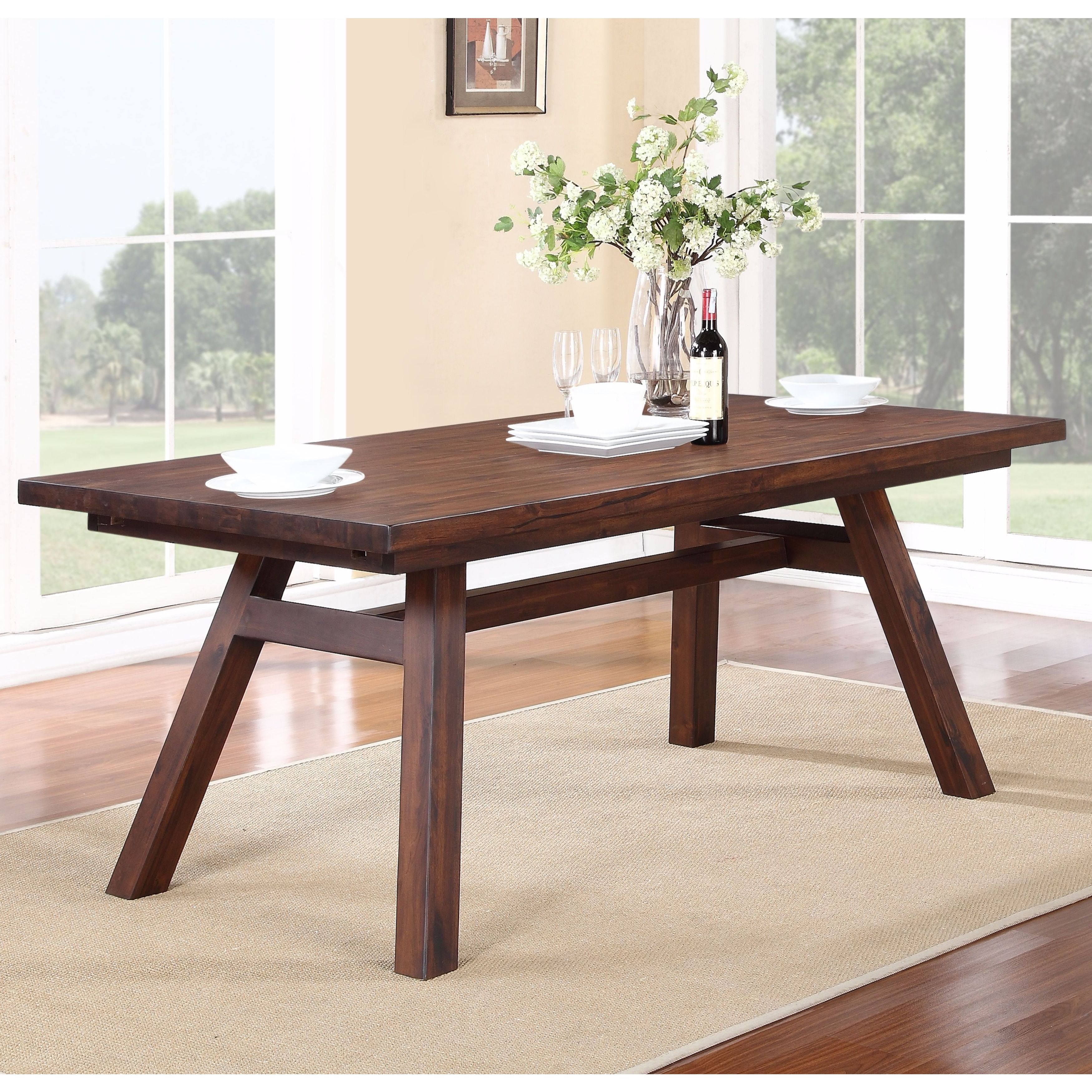 Solid Wood Modern Rectangular Extension Table Free Shipping Today 17680036