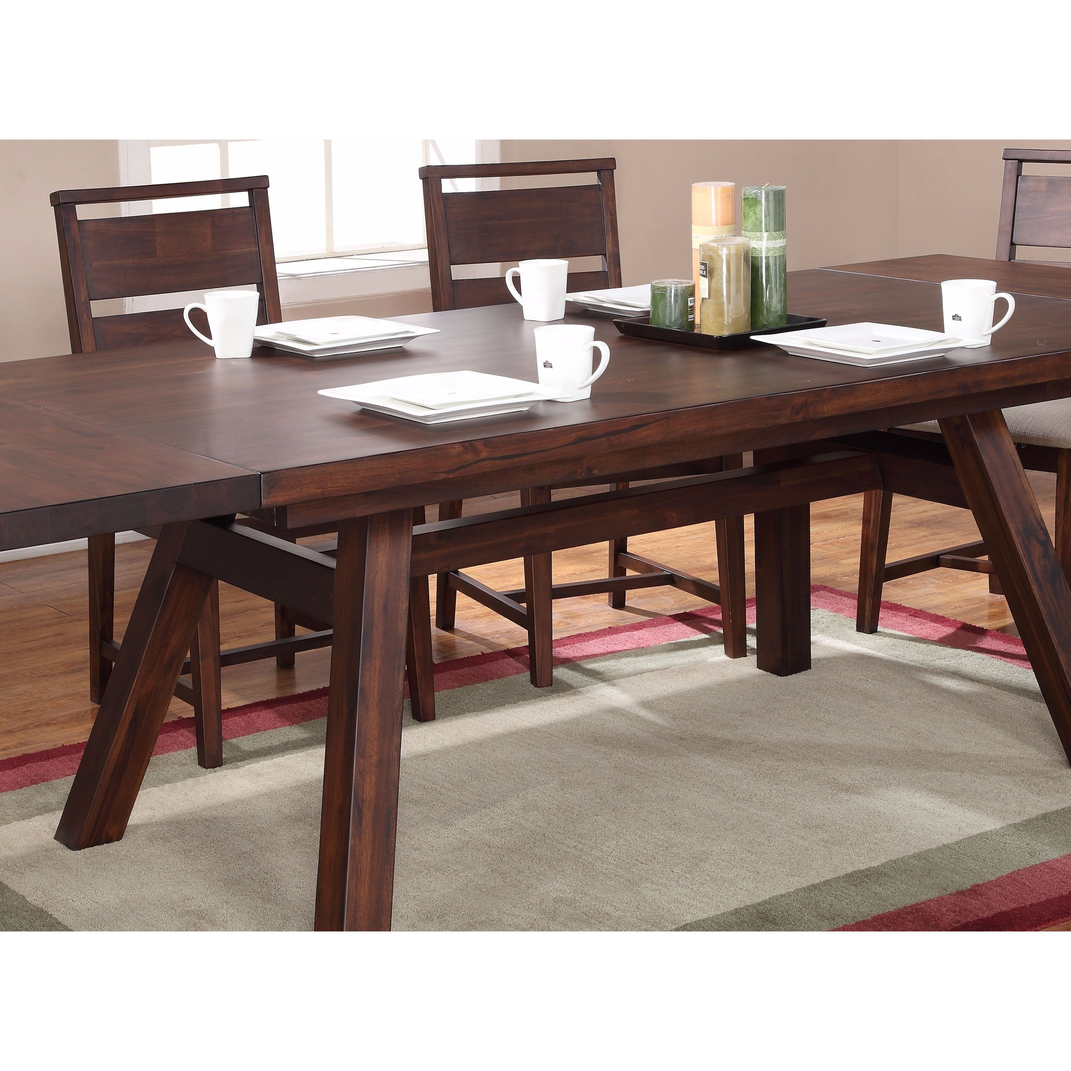 Solid Wood Modern Rectangular Extension Table Free Shipping Today 10608381