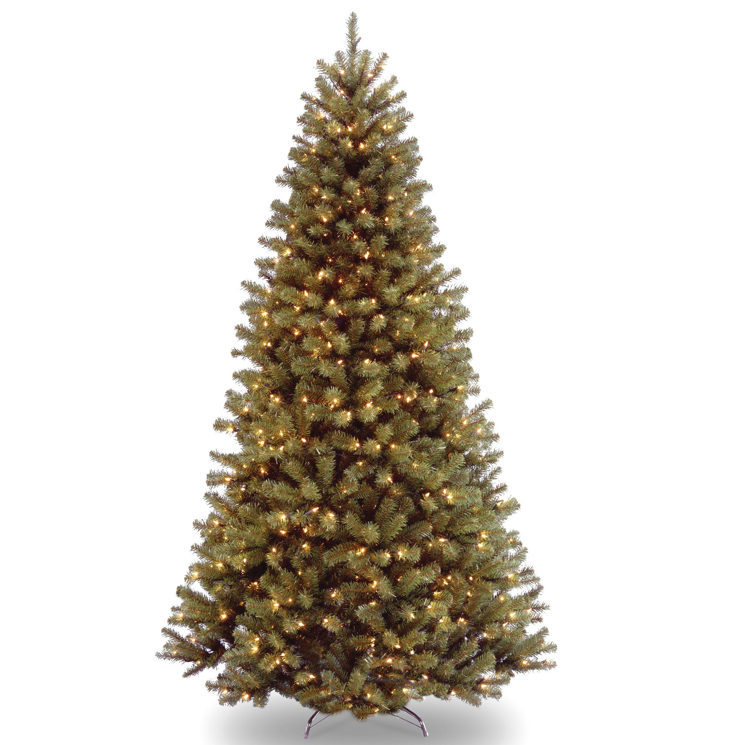 43f67d1721d Shop 7-foot Pre-lit Artificial Christmas Tree w Clear or Multicolor Bulbs -  Free Shipping Today - Overstock - 10610684