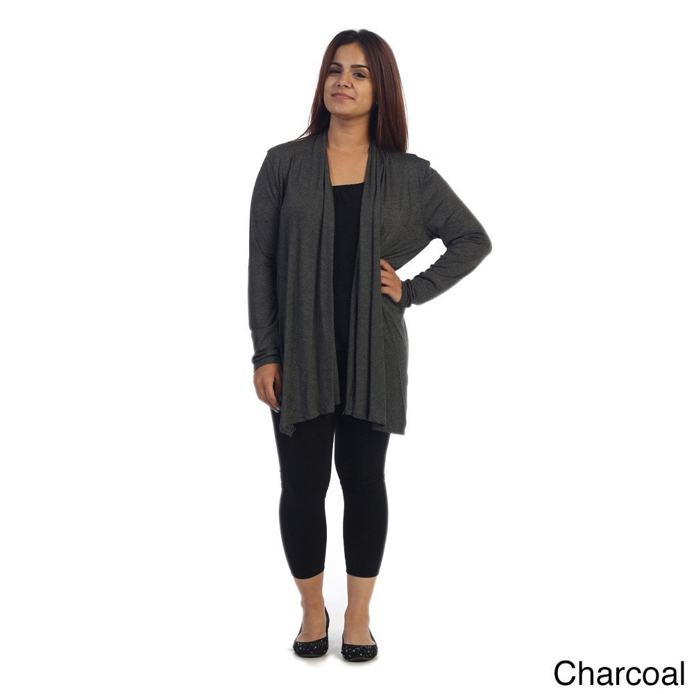 9c9462fc12d Shop Ella Samani Women s Plus Size Open Front Cardigan - Free Shipping On  Orders Over  45 - Overstock - 10610948