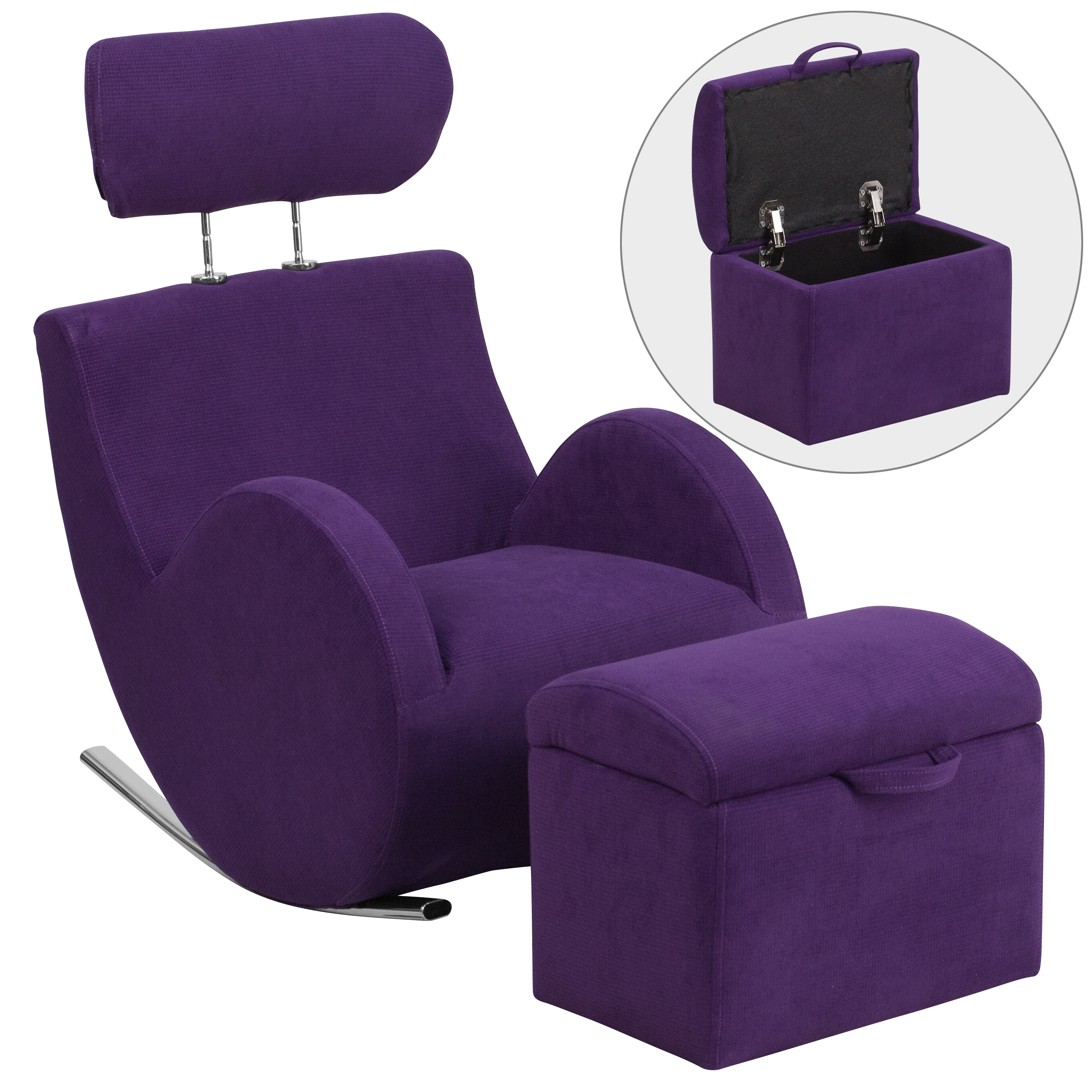 Shop Hercules Kids Rocking Chair And Storage Ottoman Set   Free Shipping  Today   Overstock.com   10611466