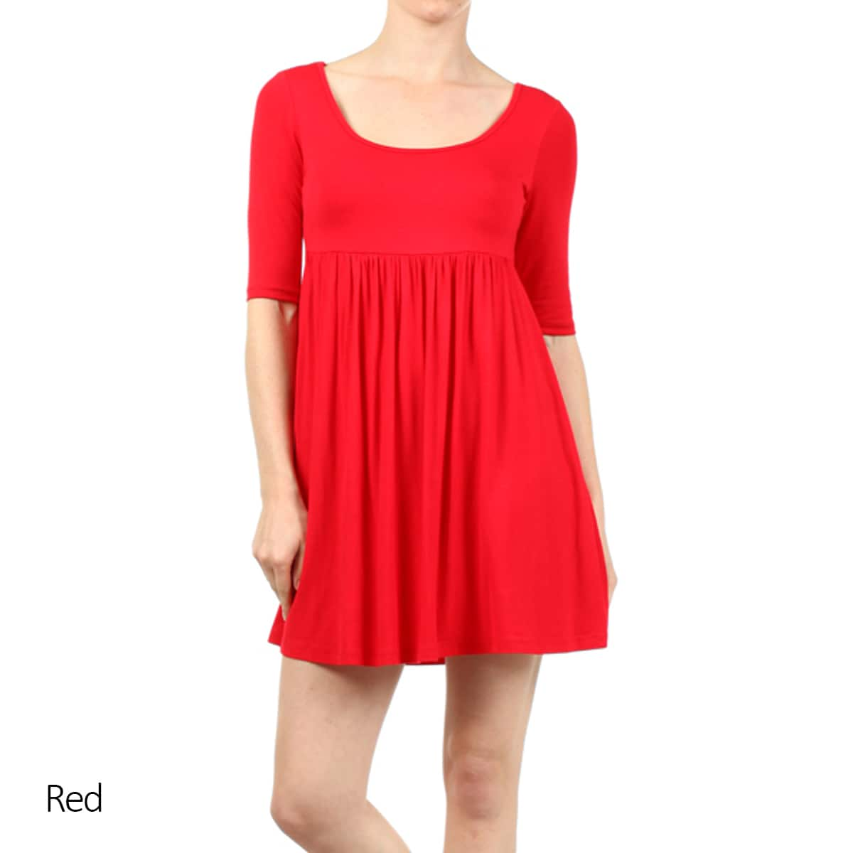Shop MOA Collection Women\'s Plus Baby Doll Dress - On Sale - Free ...