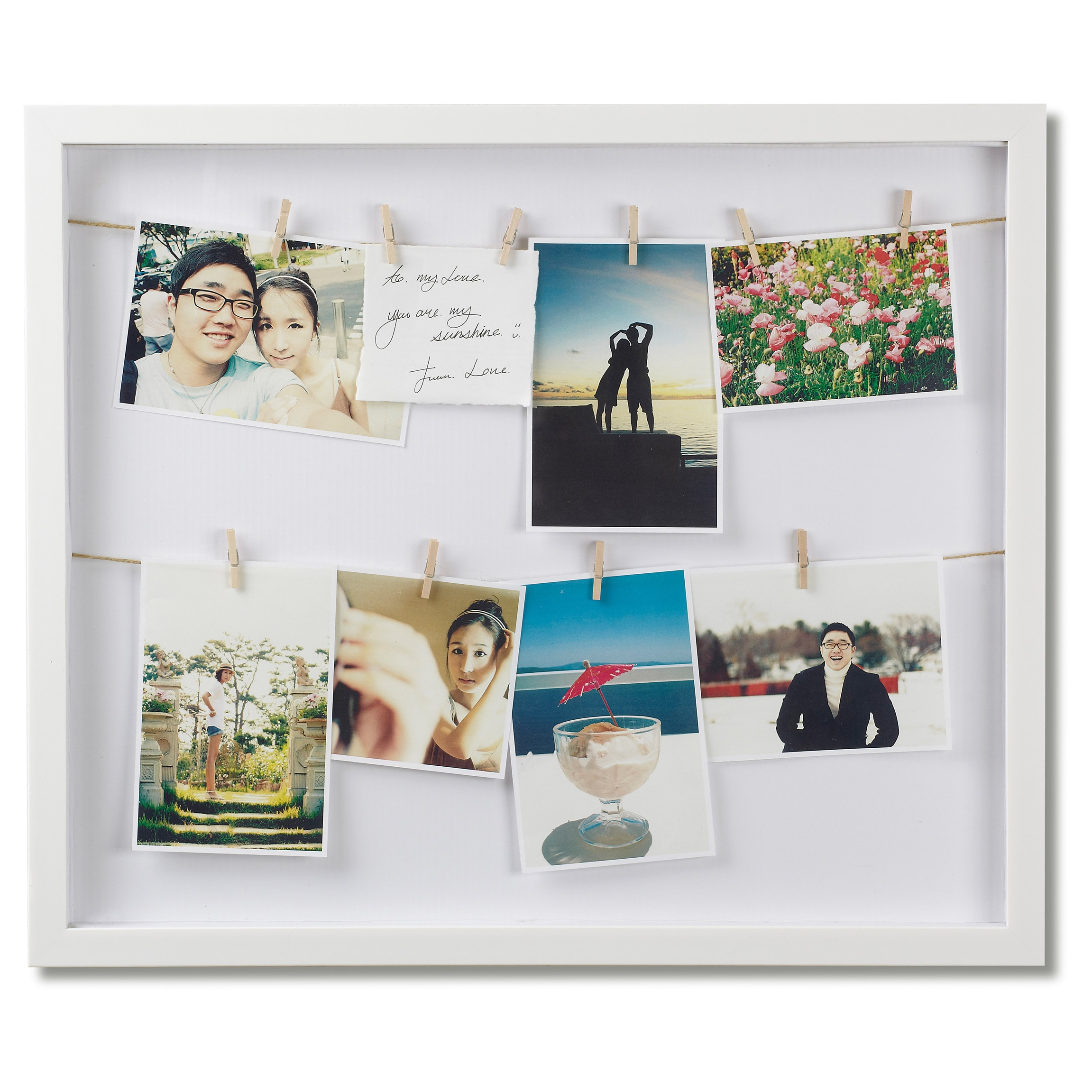 Umbra Clothesline Photo Display Picture Frame - Free Shipping On Orders  Over $45 - Overstock.com - 17685110