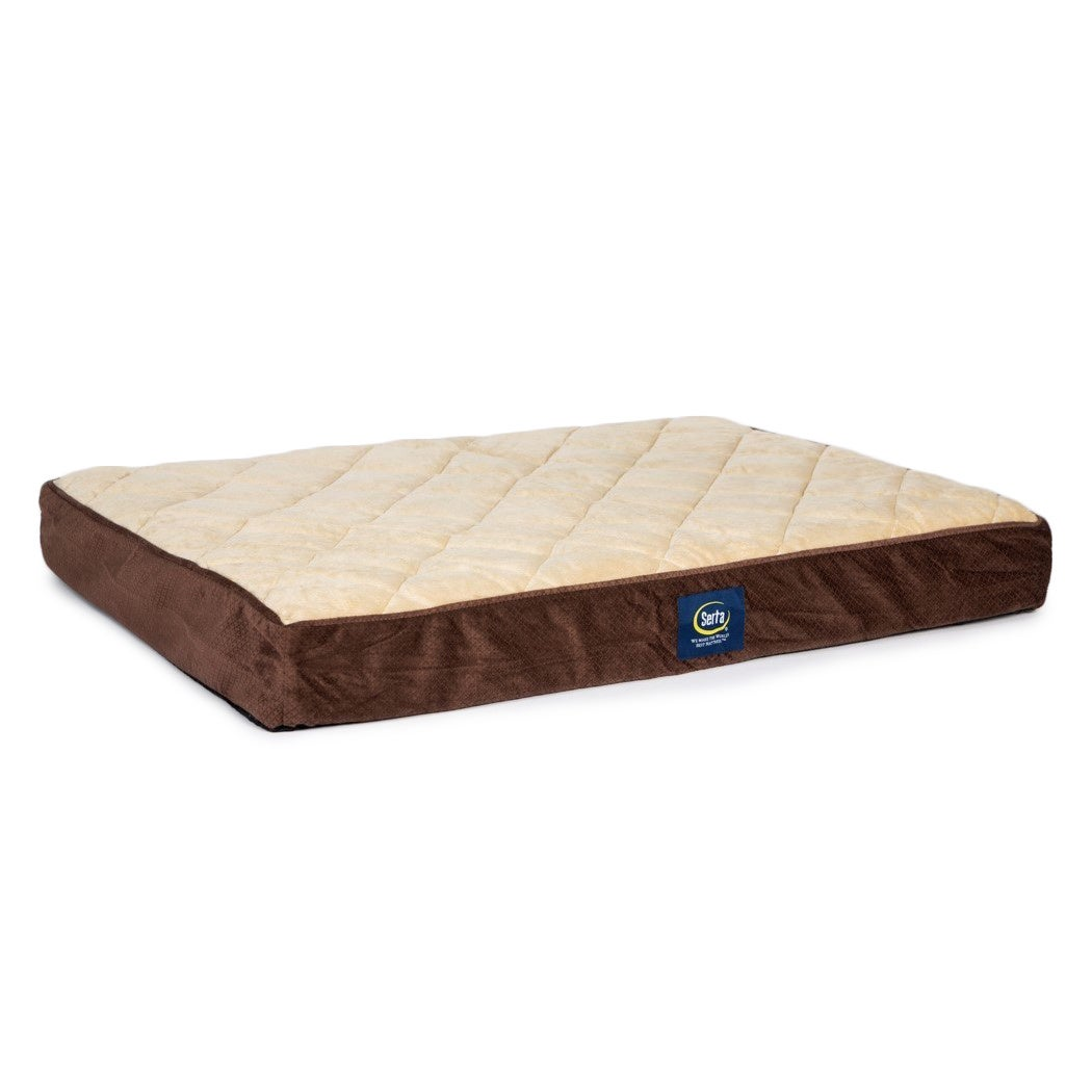 Shop Serta Orthopedic Quilted Pillowtop Pet Bed Free Shipping