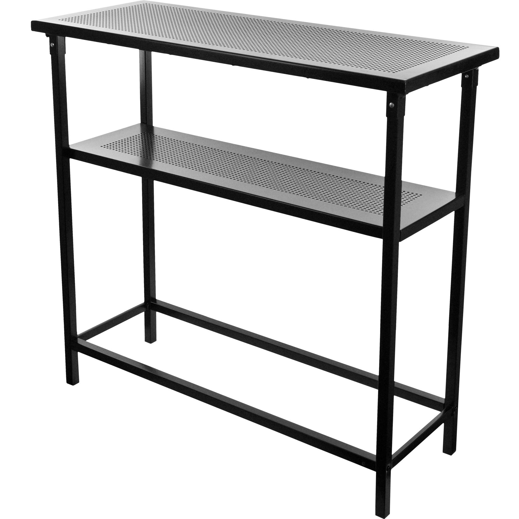 Shop deluxe metal portable bar table with carrying case free shipping today overstock com 10618623