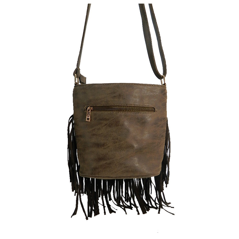 57336e8e03 Shop Ruby Faux Leather Fringe Crossbody - Free Shipping On Orders Over  45  - Overstock.com - 10619970