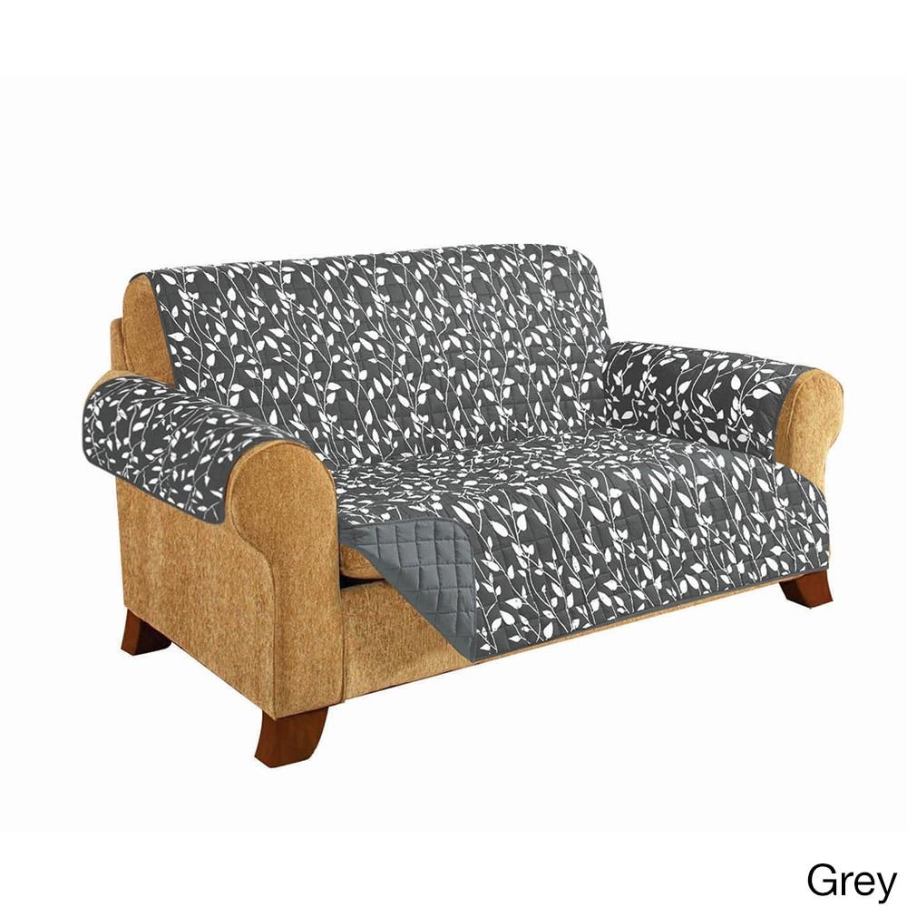Shop Elegant Comfort Leaf Design Quilted Reversible Sofa Furniture