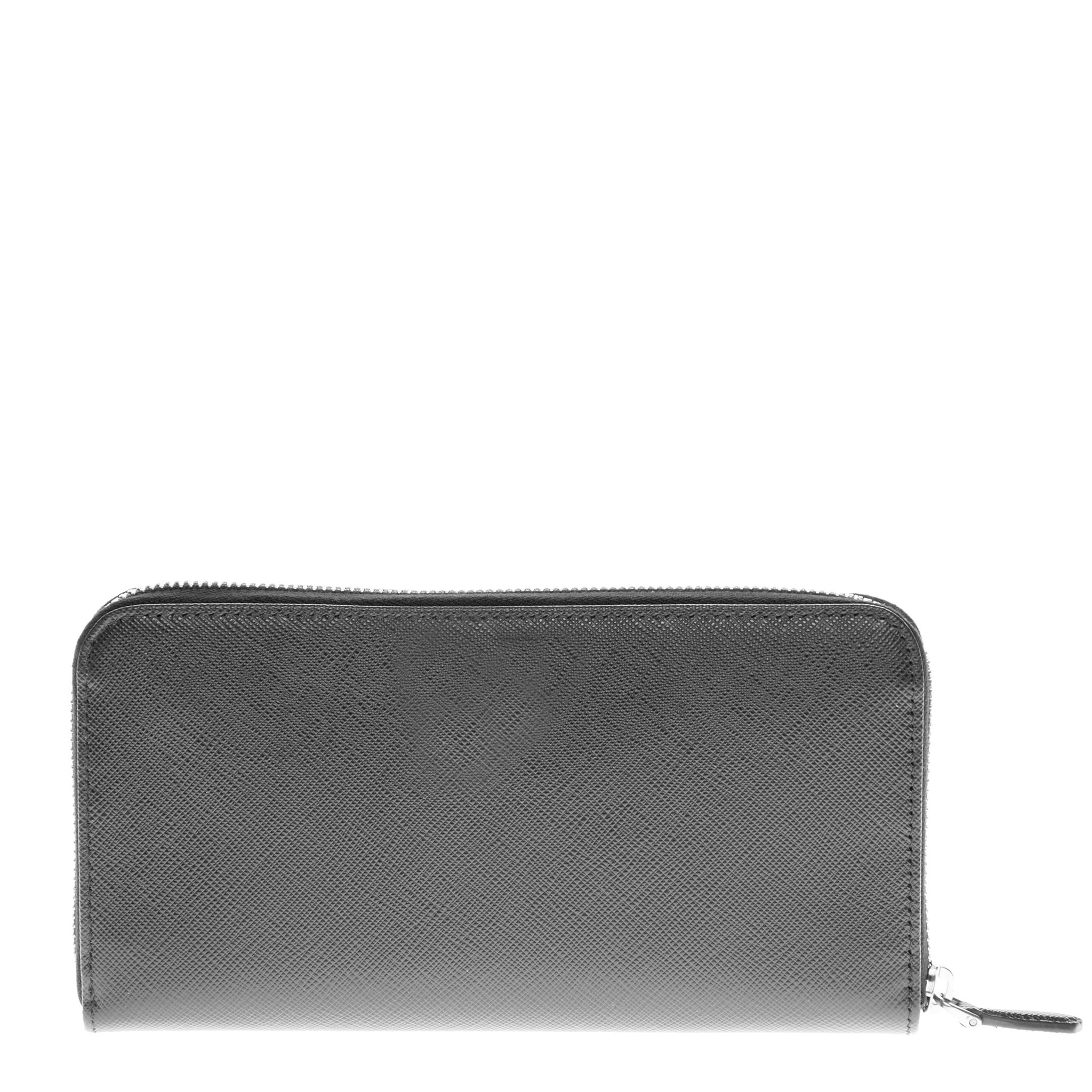 f3fe179ce810 Shop Prada Saffiano Triangle Zip Around Wallet - Free Shipping Today -  Overstock - 10620111