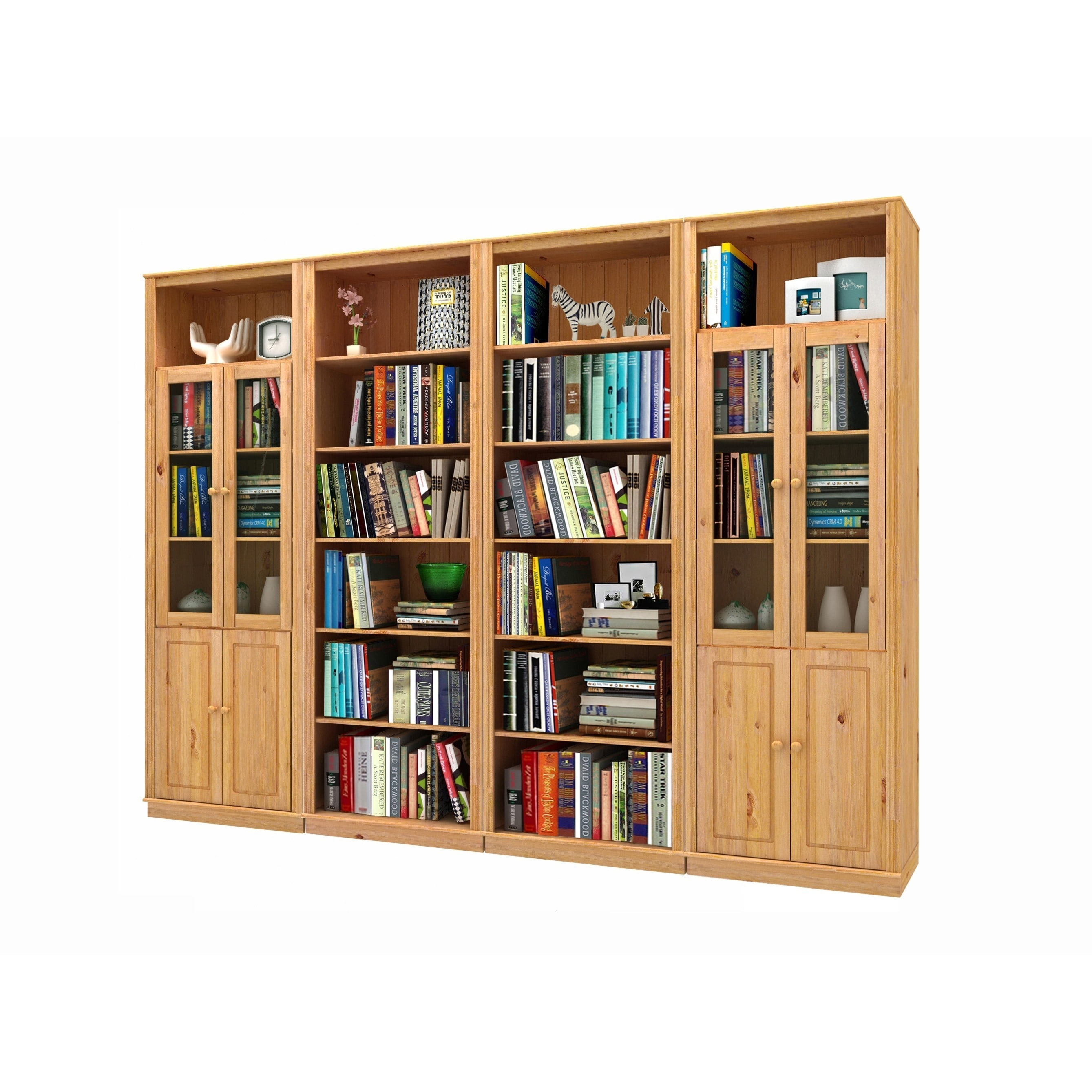wood elegant glass sliding with freestanding bookcases rustic designs doors bookshelf of