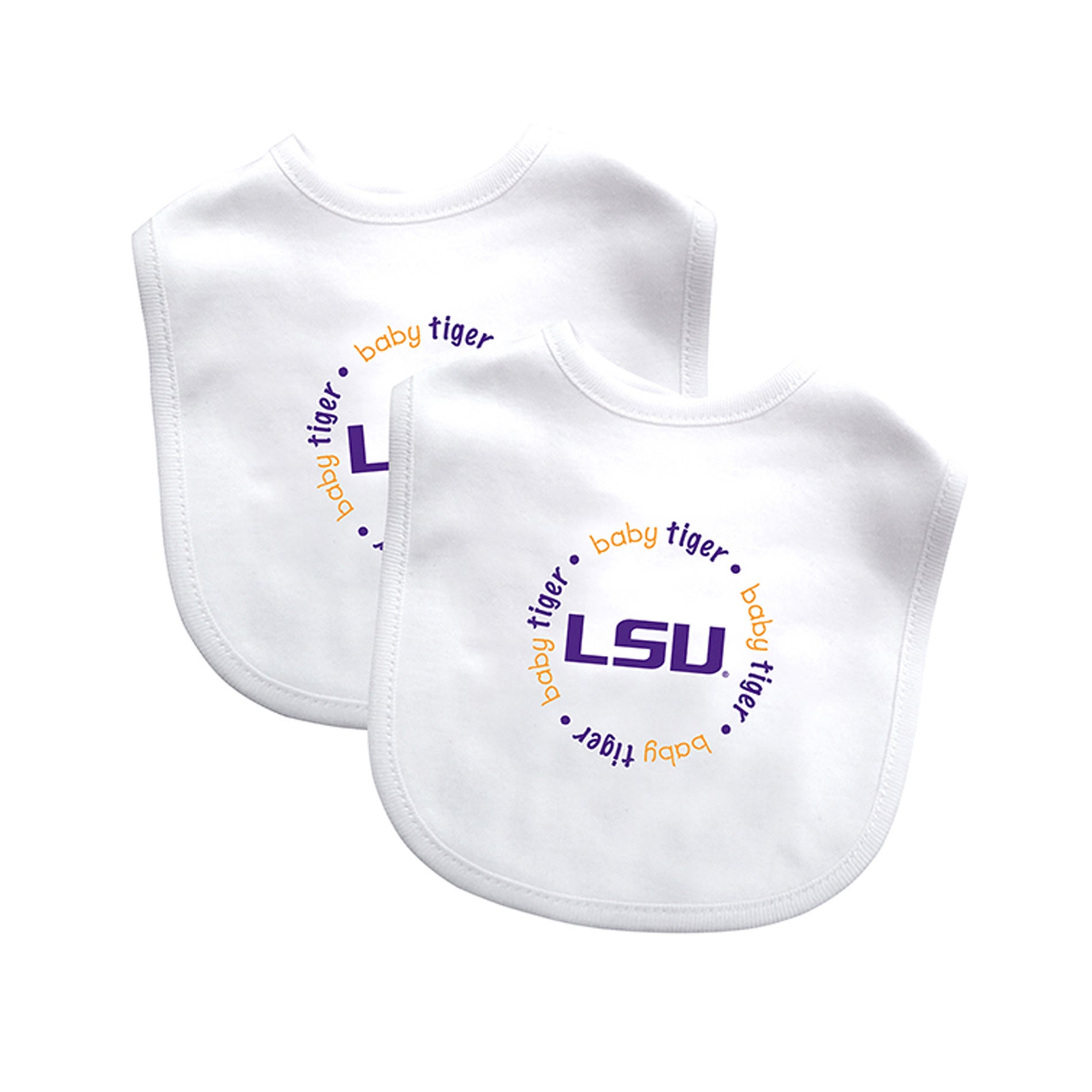 Baby Fanatic NCAA LSU Tigers 2-pack Baby Bib Set - Free Shipping On ...