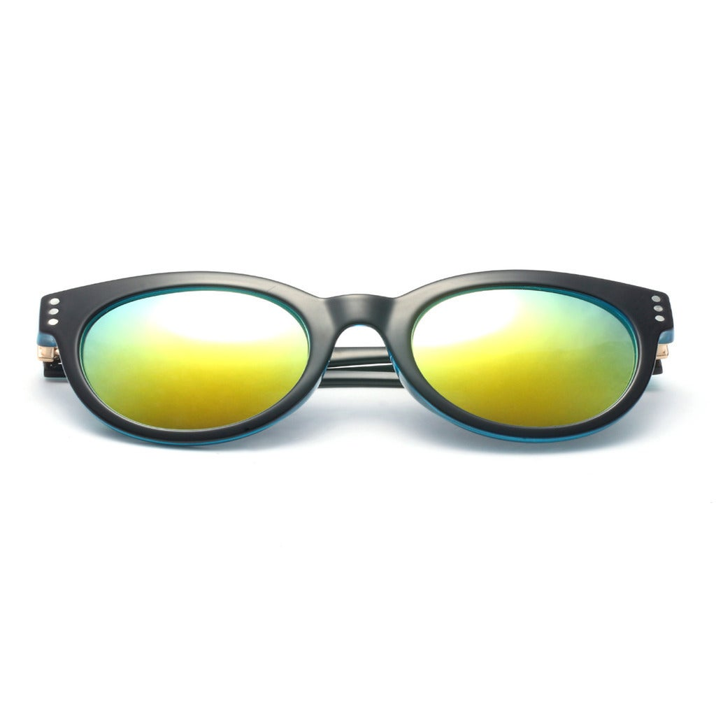 f31dd981c1da6 Shop Round Sunglasses with Blue Tinted Lens 50MM - On Sale - Free Shipping  On Orders Over  45 - Overstock - 10621376