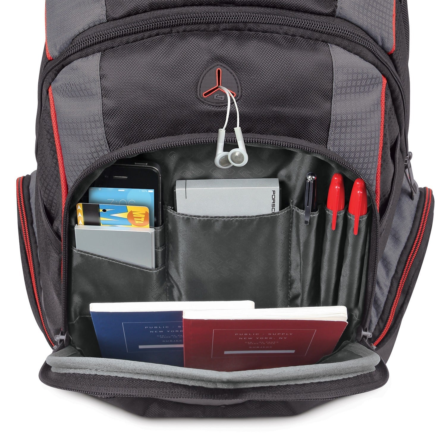 2691965e8d17 Solo ACV711-4 17.3-inch Laptop Black Hardshell Backpack with Front Zippered  Pocket
