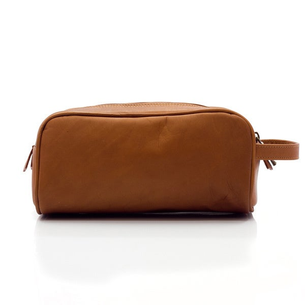 c3712e81b94a Shop Muiska Vaquetta Leather Tomas Classic Double Compartment Travel Toiletry  Kit - Free Shipping Today - - 10626224