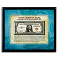 American Coin Treasures Hawaii Brown Seal Note in Acrylic Frame - Blue/Grey