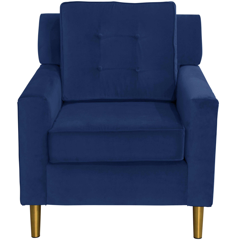 Genial Skyline Furniture Arm Chair In Velvet Navy