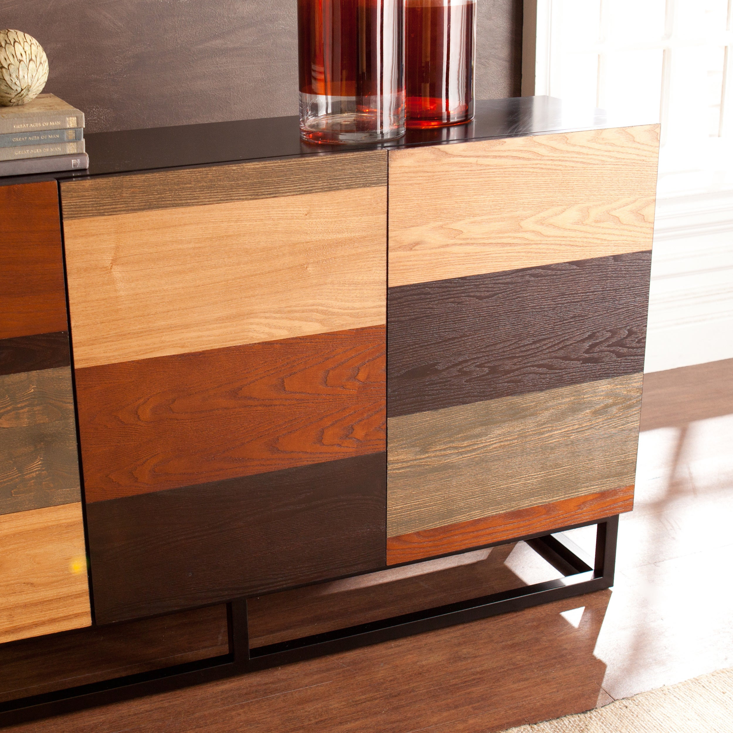 Shop Strick U0026 Bolton Gerry Multi Tonal Credenza/Console Table   Free  Shipping Today   Overstock.com   22727272