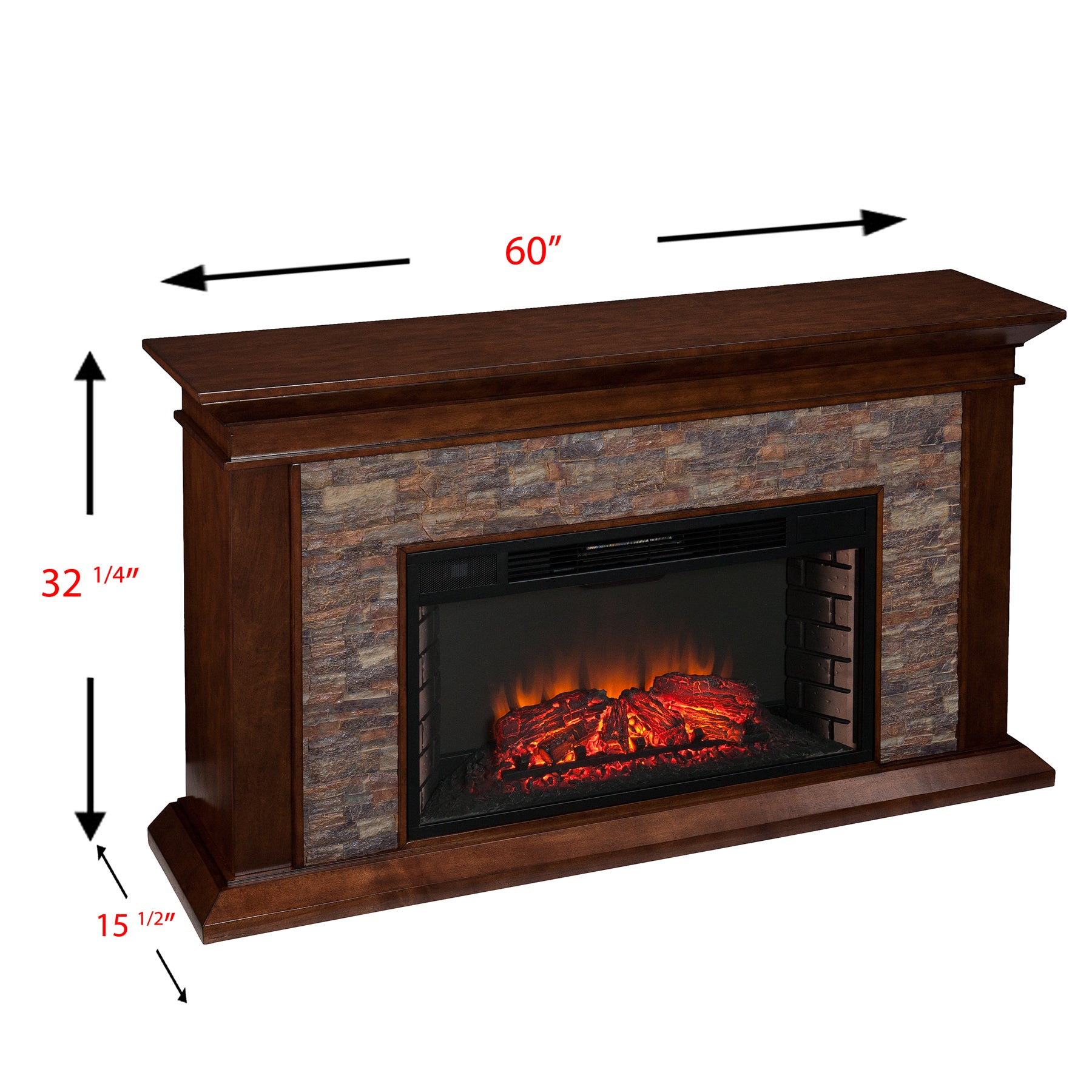 recessed alpine electric crystal inch p wall fireplace built in mounted