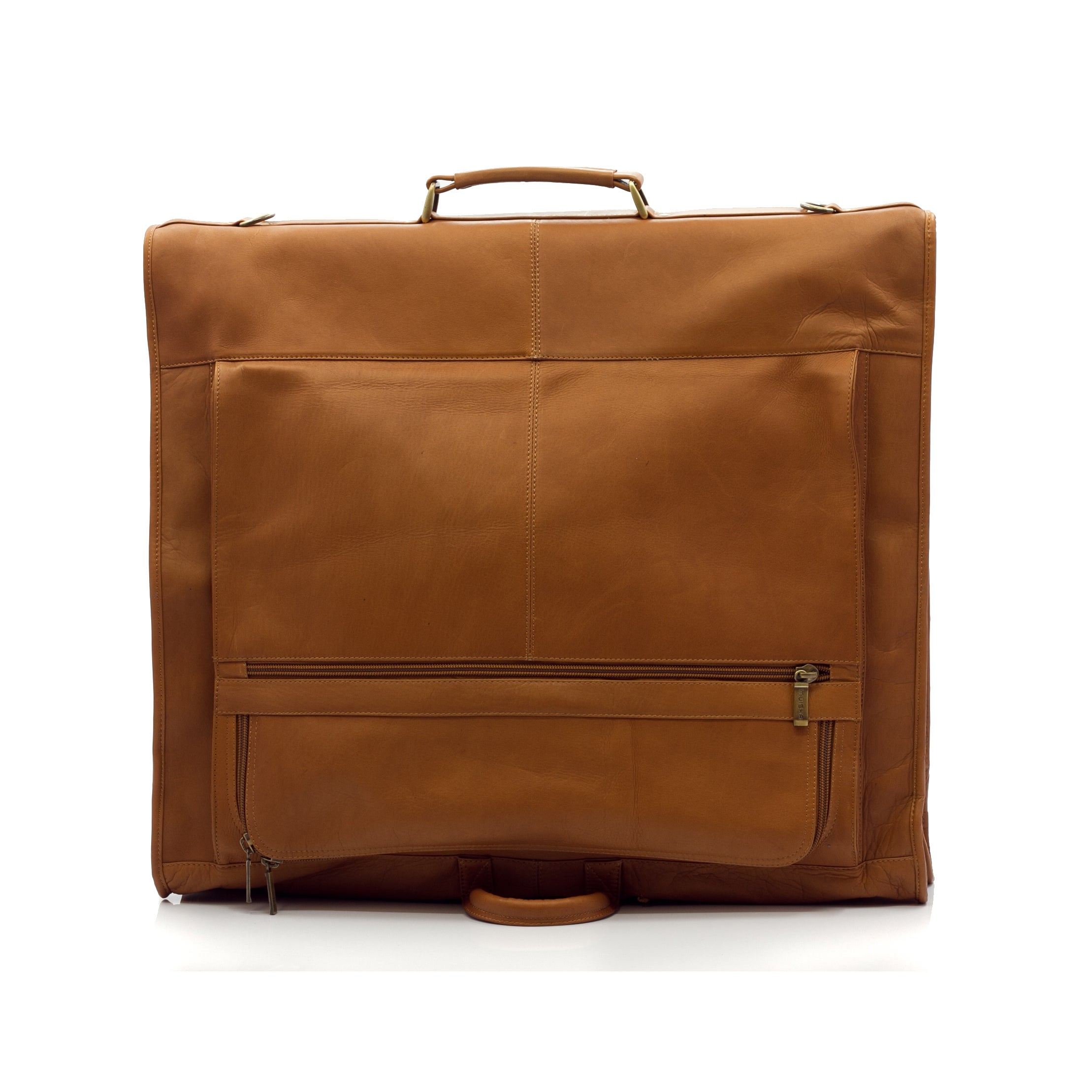 c4cad1660298 Shop Muiska Vaquetta Leather Havana Carry-all Garment Bag - Free Shipping  Today - Overstock.com - 10630535
