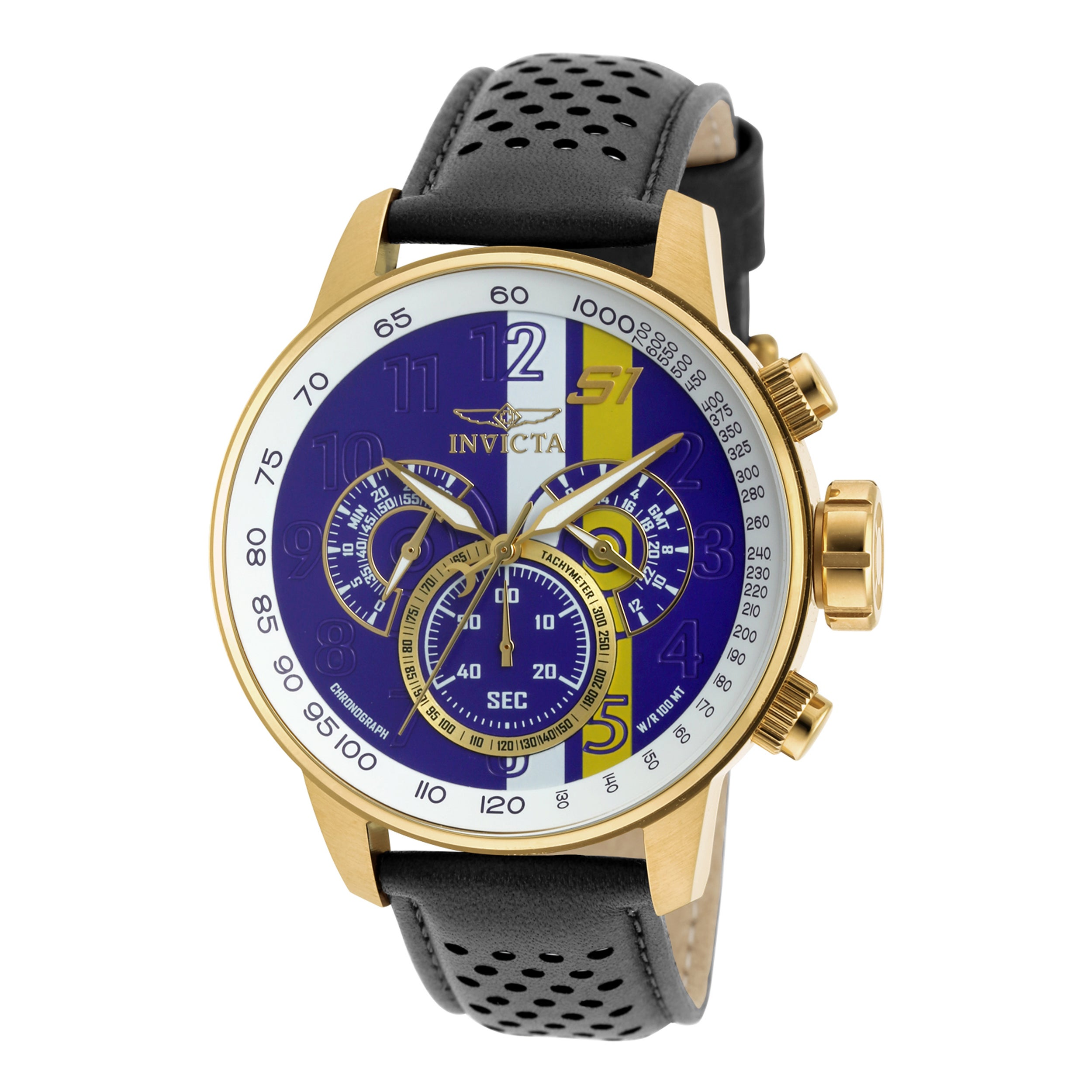 35debdbc2 Shop Invicta Men's 19903 S1 Rally Quartz Multifunction Purple, White,  Yellow Dial Watch - Free Shipping Today - Overstock - 10631262