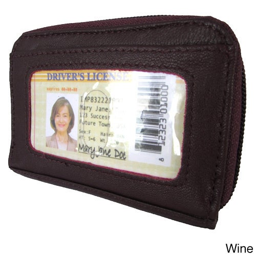 Shop Continental Leather Small Hand Held Women s Wallet with Exterior Window  ID and Multiple Credit Card Slots - S - Free Shipping On Orders Over  45 ... 46ae2217fd