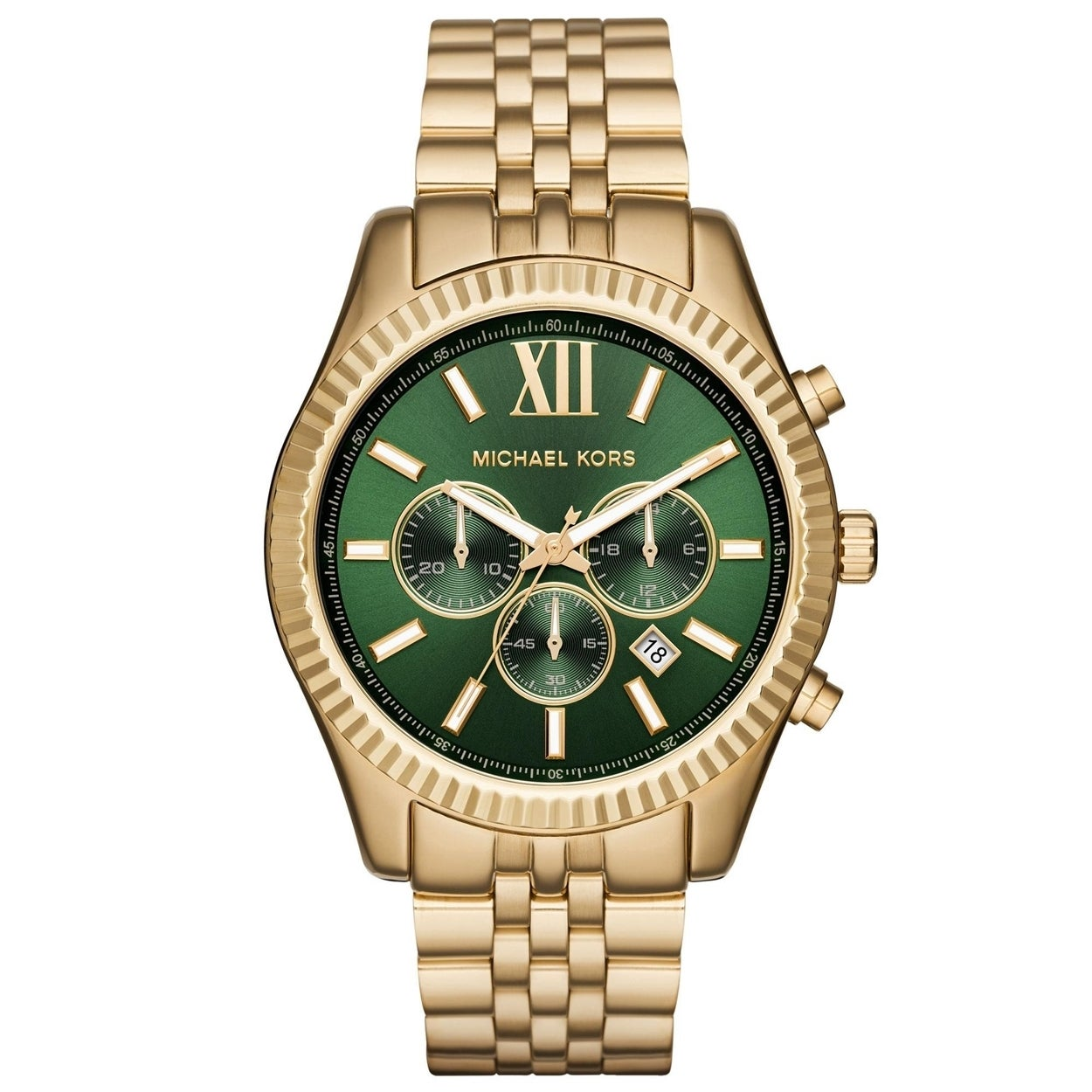 a0645ce2473c Shop Michael Kors Men s MK8446  Lexington  Chronograph Gold-Tone Stainless  Steel Watch - Free Shipping Today - Overstock - 10633157