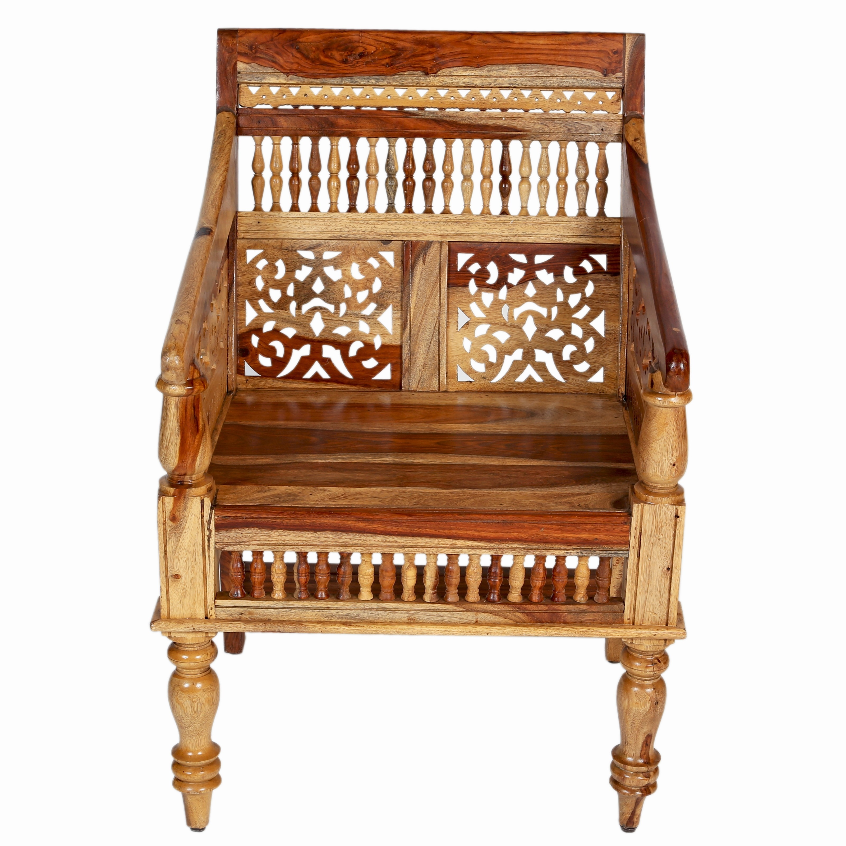 Porter Maharaja Hand Carved Solid Sheesham Chair India Free Shipping Today 17702576