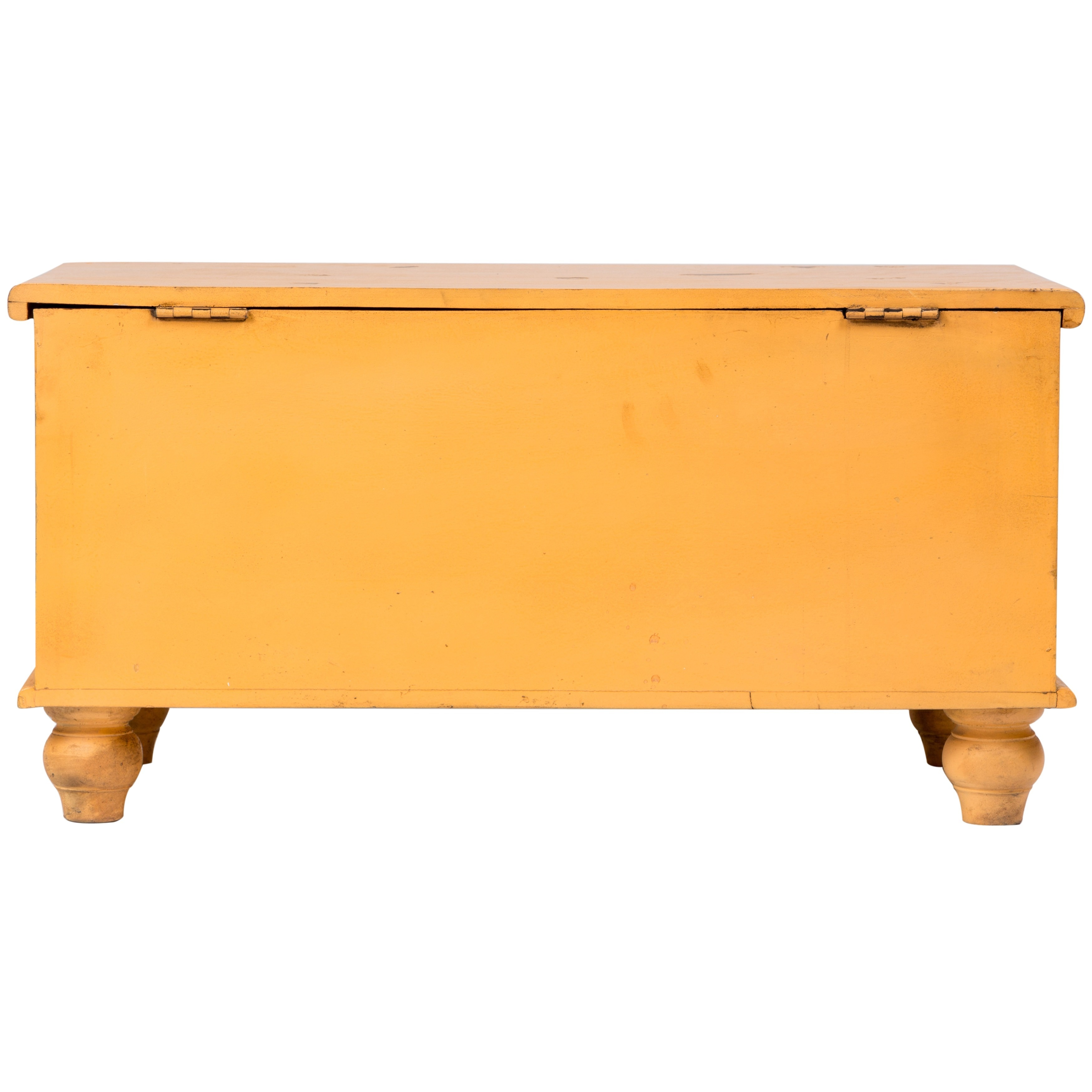 Wanderloot Leela Yellow Handmade Medallion Coffee Table Trunk