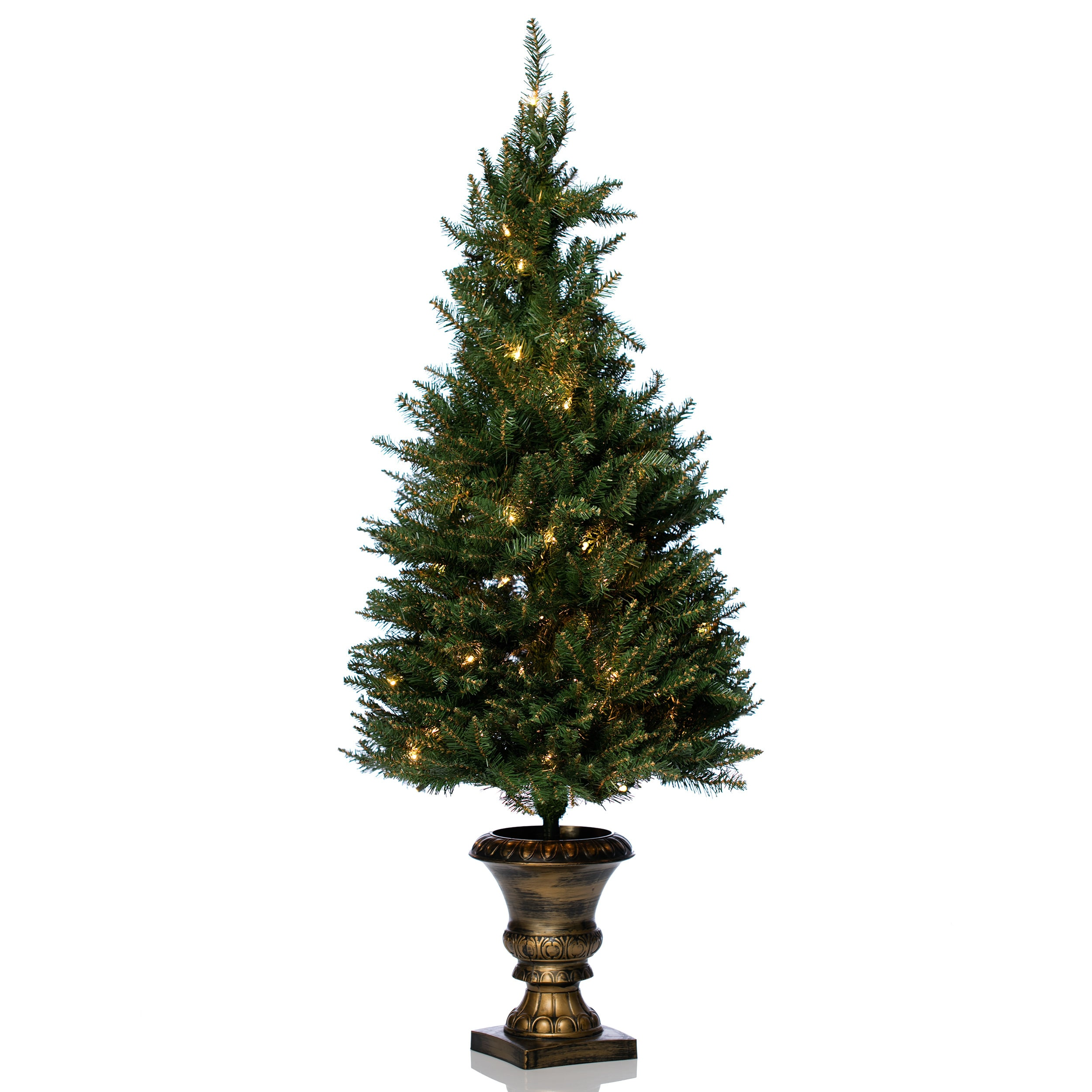 Shop 4\' Artificial Christmas Porch Tree for Indoor/Outdoor Use ...