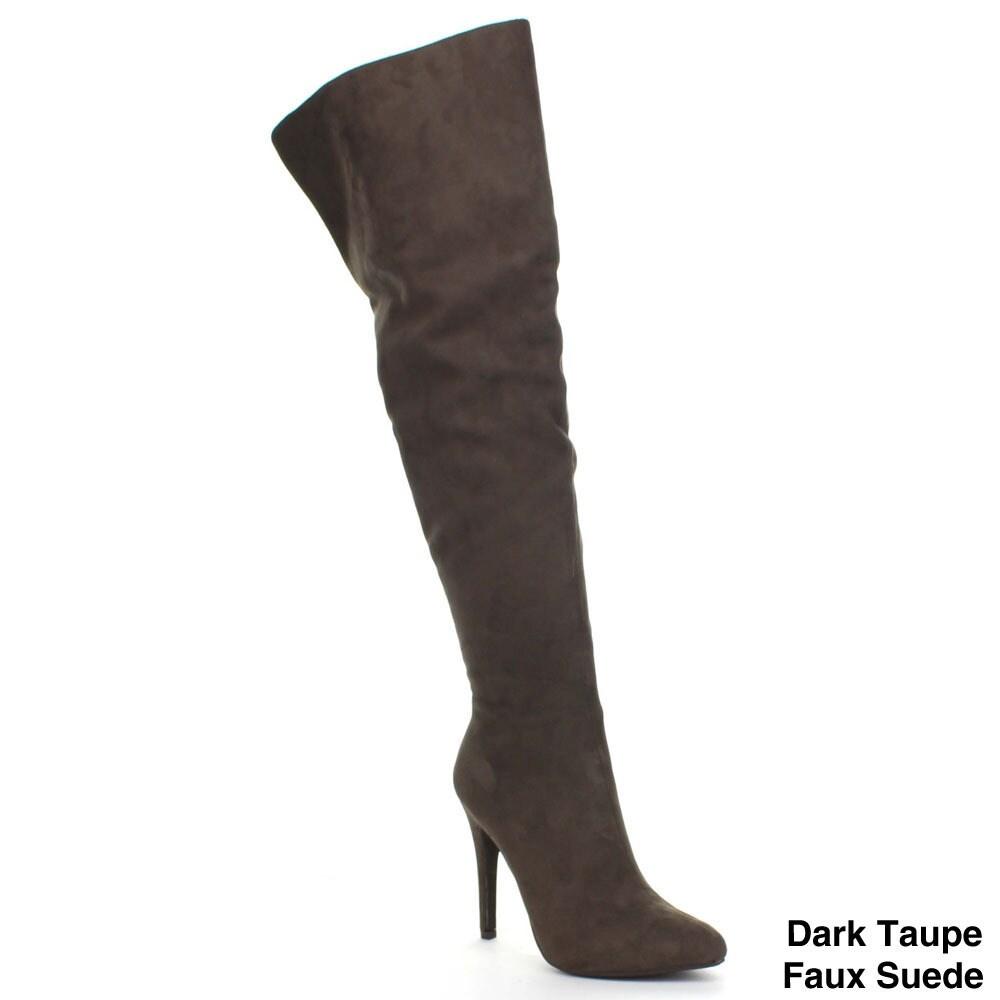 cb4e0e947de PAPRIKA SANDRA Women s Sexy High Stiletto Heel Pointed Toe Over Knee High  Boots