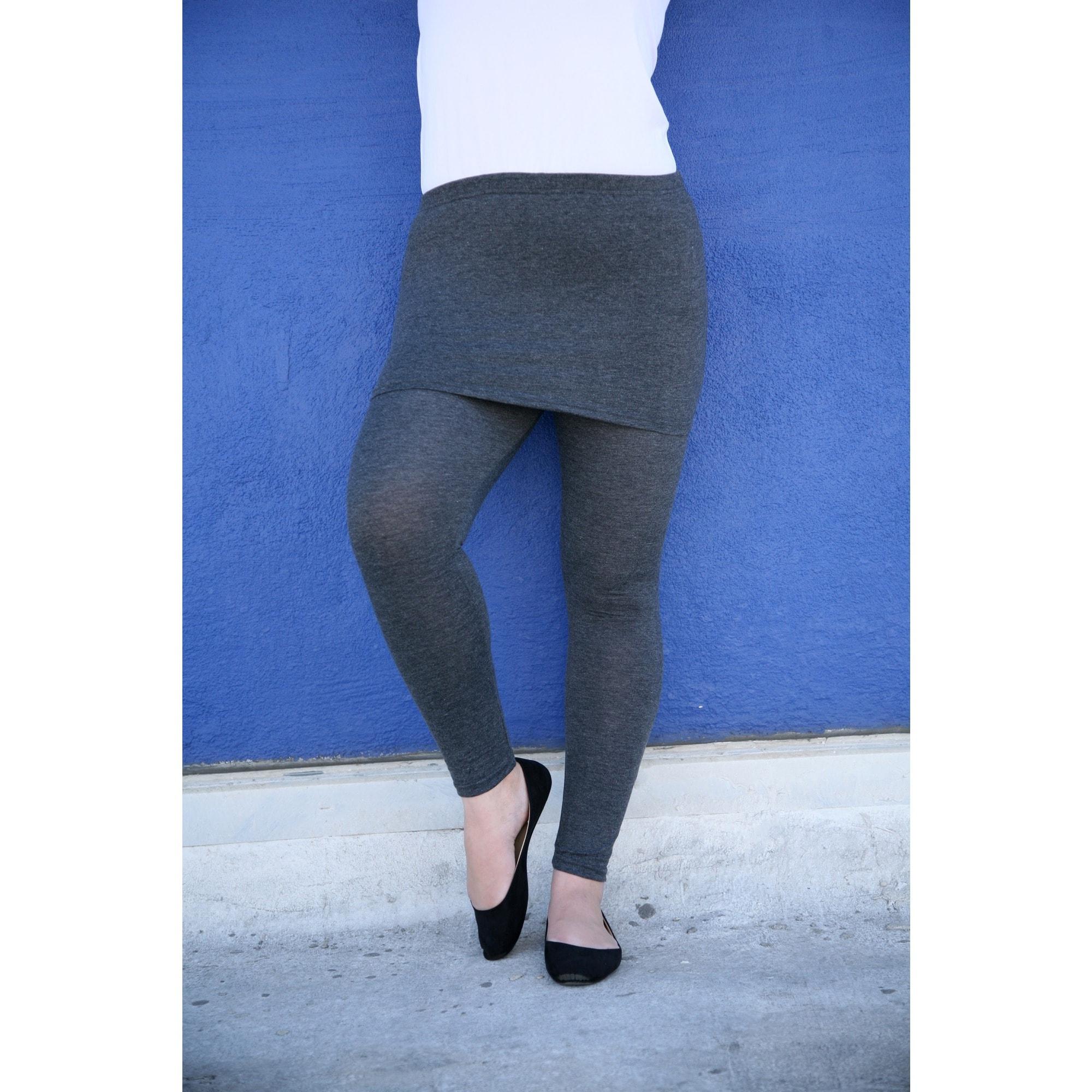24b5fbde9f9 Shop White Mark Women s Plus Size Skirted Leggings - Free Shipping On  Orders Over  45 - Overstock - 10634821